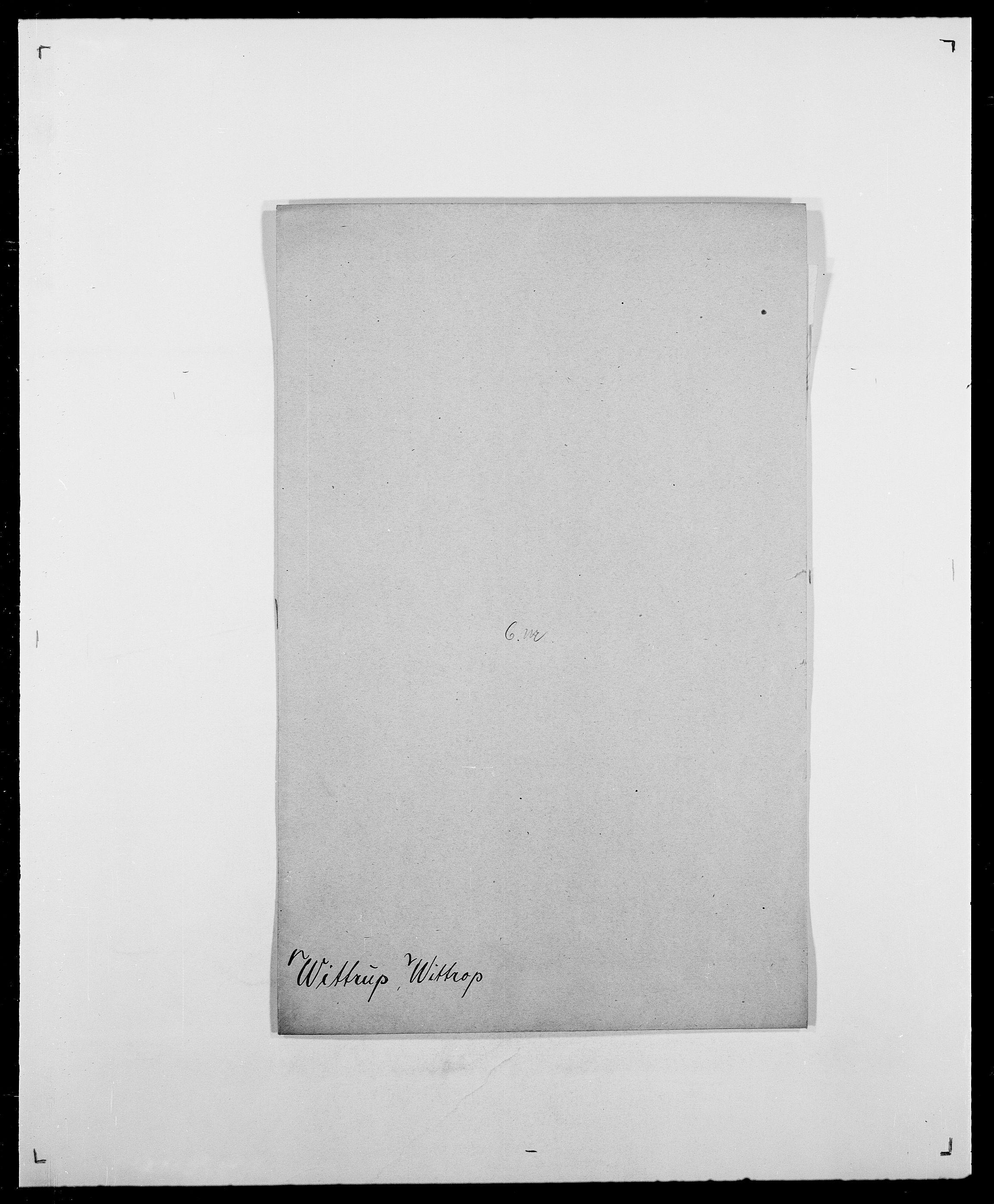 SAO, Delgobe, Charles Antoine - samling, D/Da/L0042: Vilain - Wulf, Wulff, se også Wolf, s. 500
