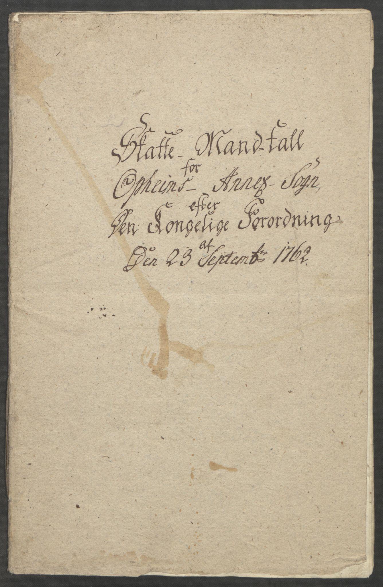 RA, Rentekammeret inntil 1814, Reviderte regnskaper, Fogderegnskap, R52/L3418: Ekstraskatten Sogn, 1762-1769, s. 197
