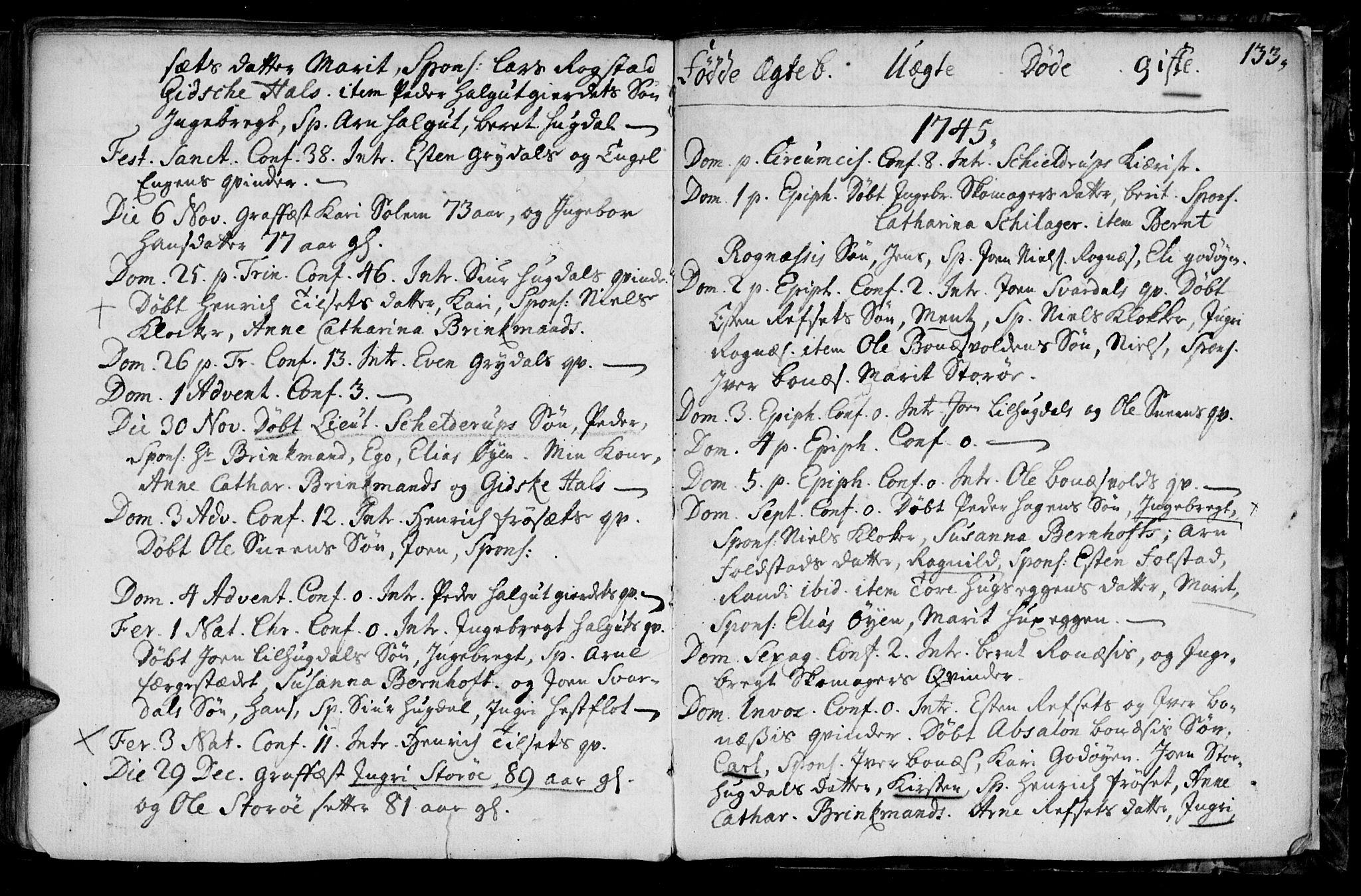 SAT, Ministerialprotokoller, klokkerbøker og fødselsregistre - Sør-Trøndelag, 687/L0990: Ministerialbok nr. 687A01, 1690-1746, s. 133