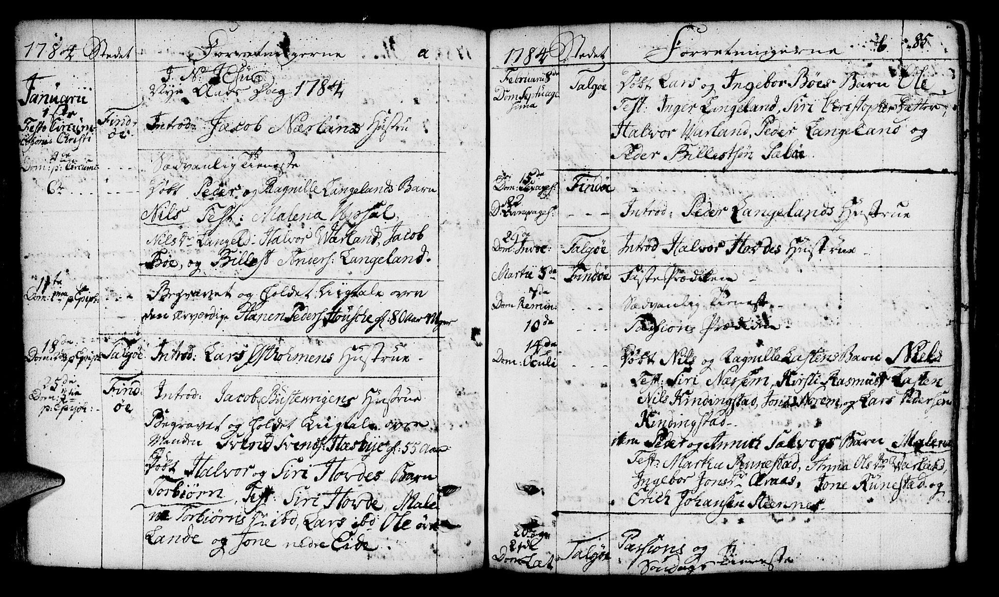 SAST, Finnøy sokneprestkontor, H/Ha/Haa/L0005: Ministerialbok nr. A 5, 1773-1816, s. 85
