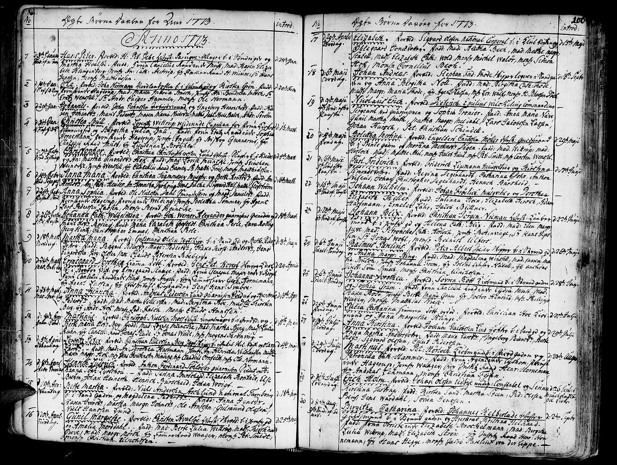 SAT, Ministerialprotokoller, klokkerbøker og fødselsregistre - Sør-Trøndelag, 602/L0103: Ministerialbok nr. 602A01, 1732-1774, s. 106