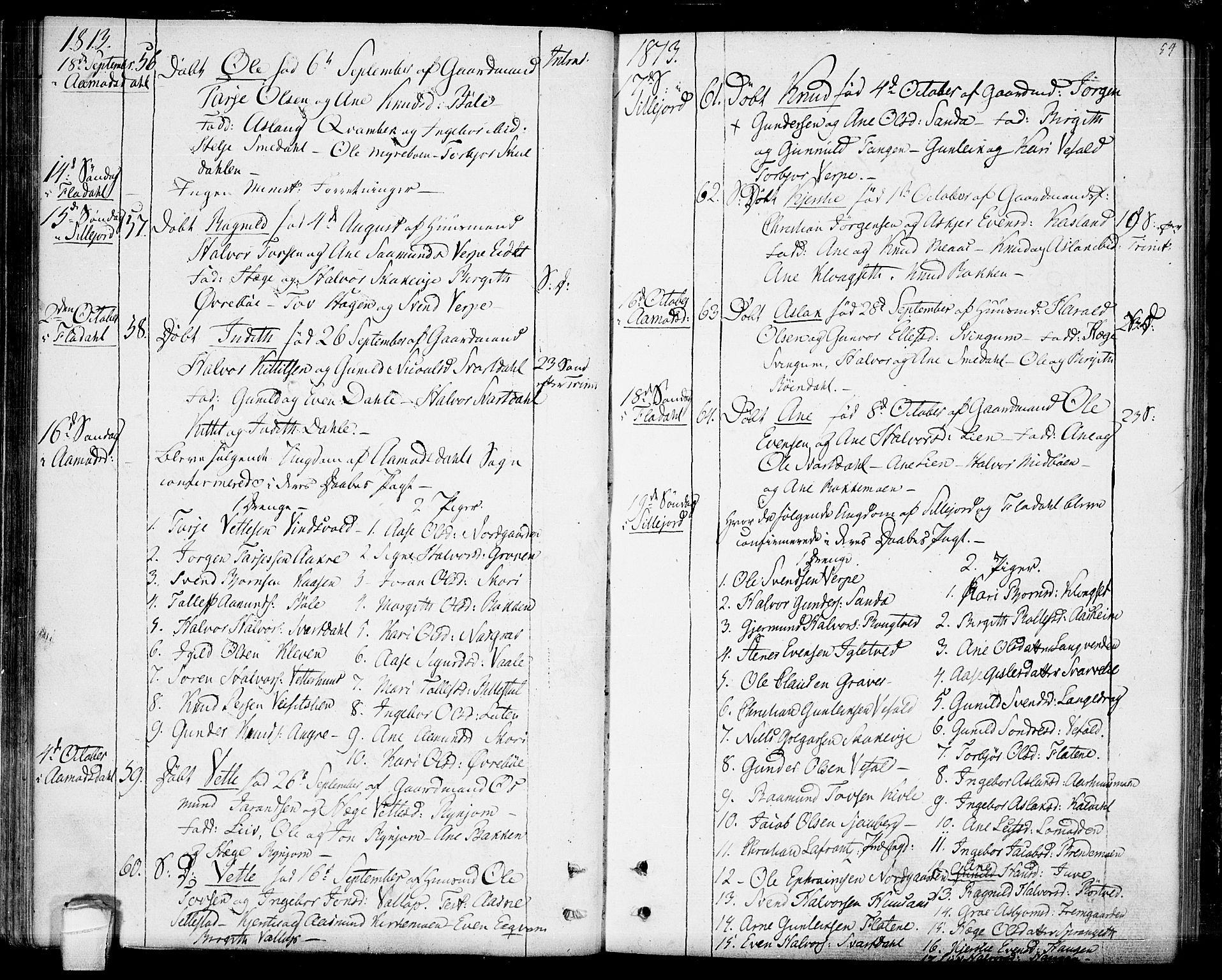 SAKO, Seljord kirkebøker, F/Fa/L0009: Ministerialbok nr. I 9, 1801-1814, s. 54