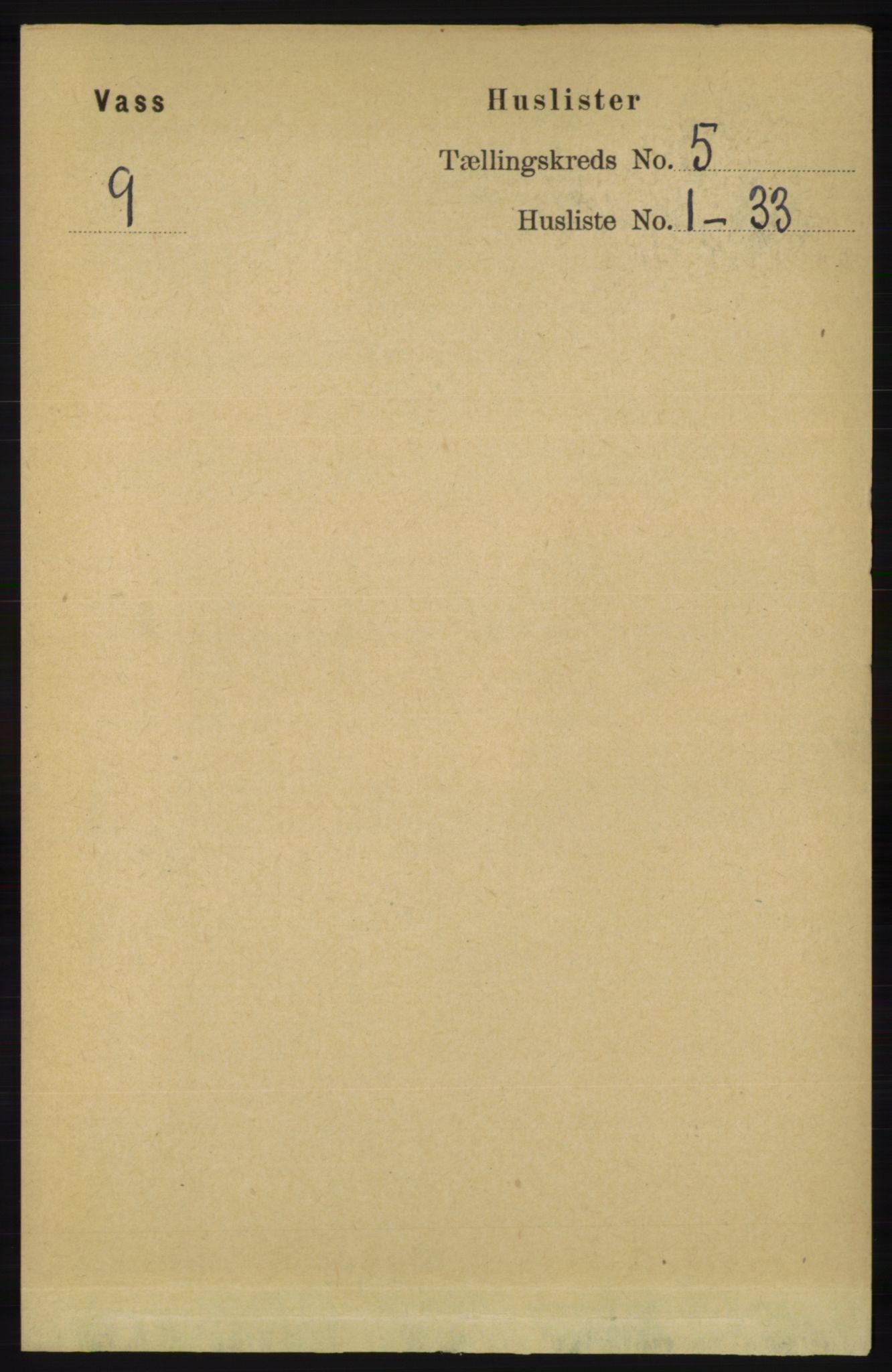 RA, Folketelling 1891 for 1155 Vats herred, 1891, s. 696
