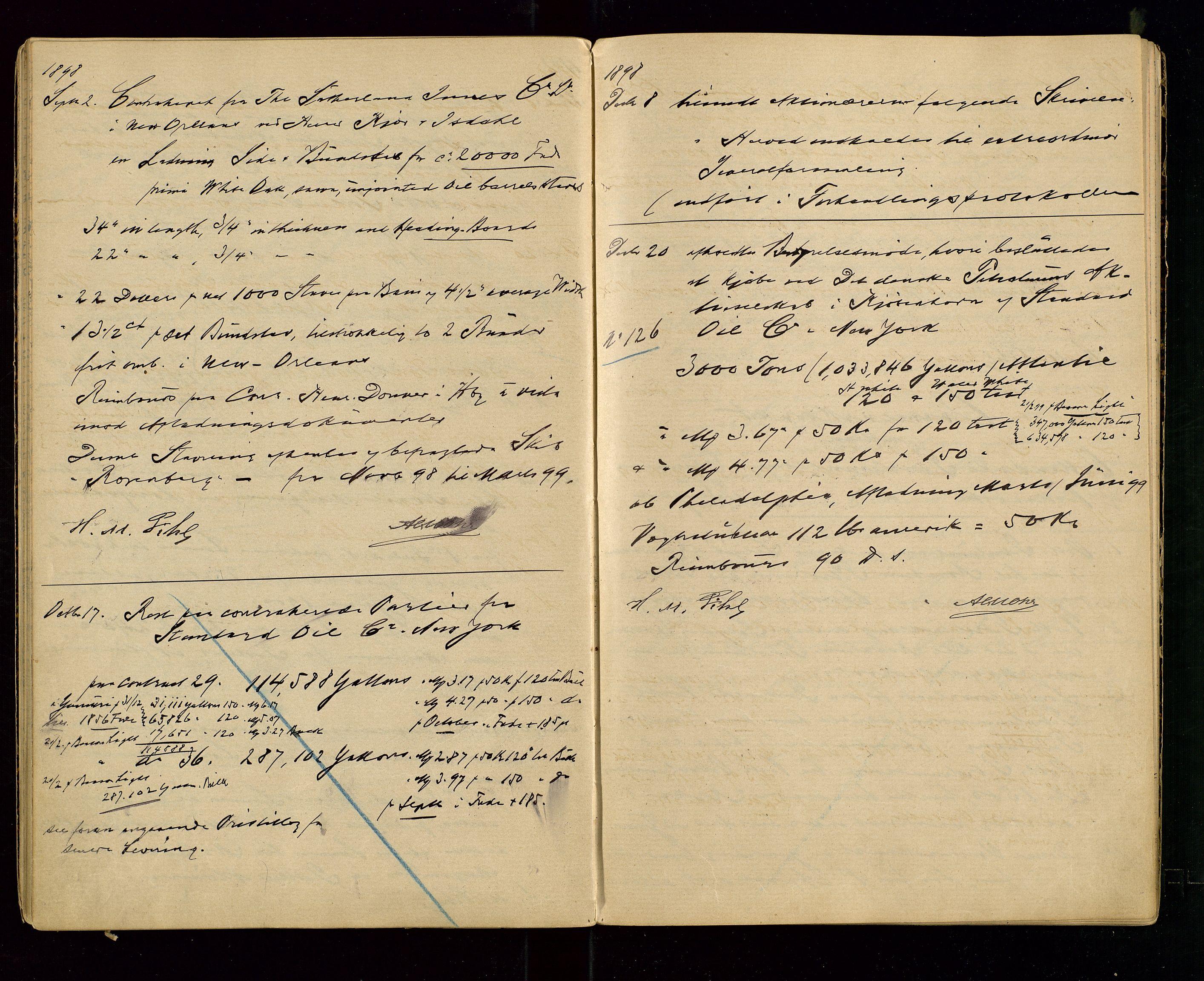 SAST, PA 1533 - A/S Vestlandske Petroleumscompani, A/Aa/L0001: Generalforsamlinger og styreprotokoller, 1890-1907, s. 33