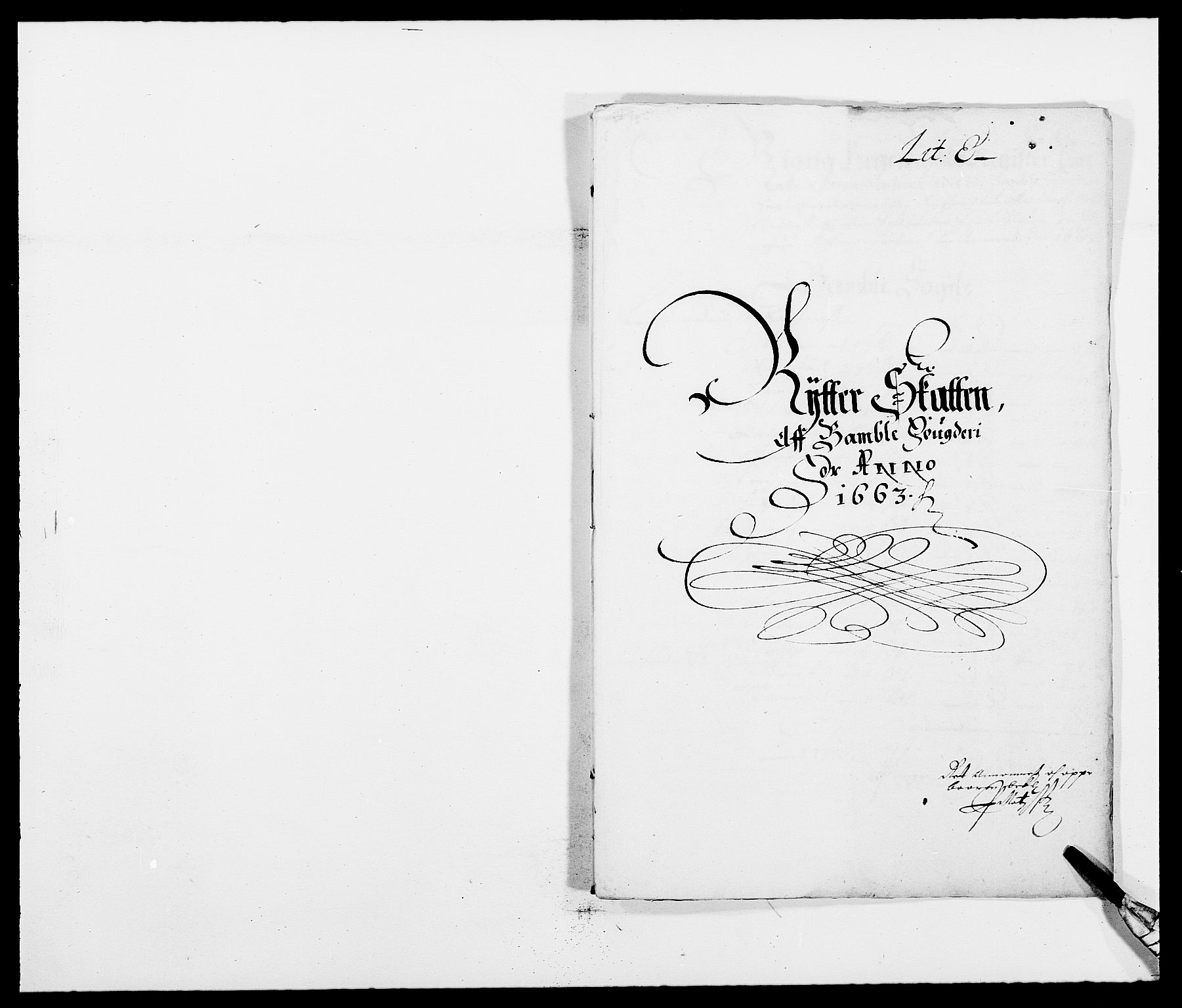 RA, Rentekammeret inntil 1814, Reviderte regnskaper, Fogderegnskap, R34/L2037: Fogderegnskap Bamble, 1662-1669, s. 222