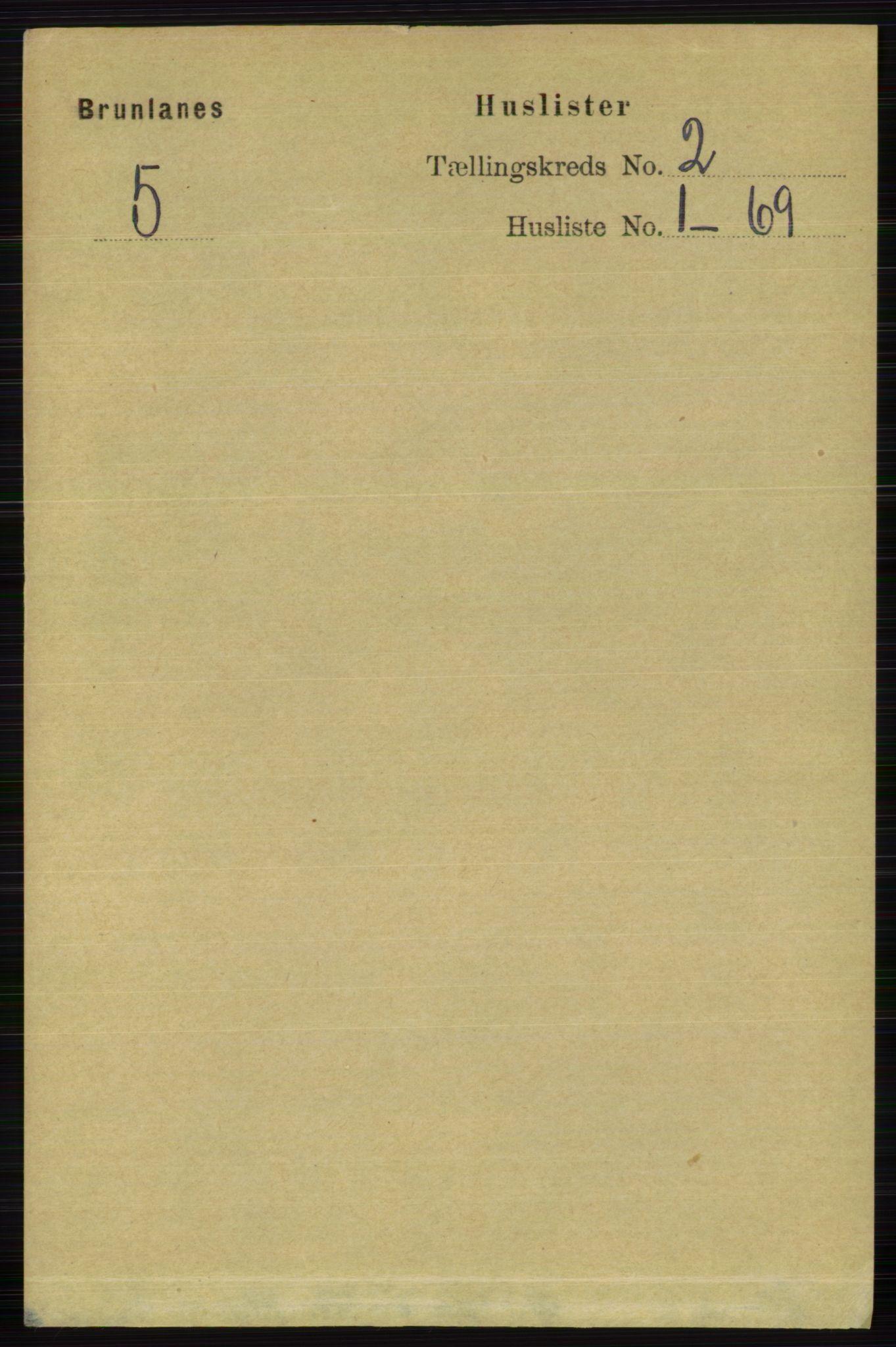 RA, Folketelling 1891 for 0726 Brunlanes herred, 1891, s. 600