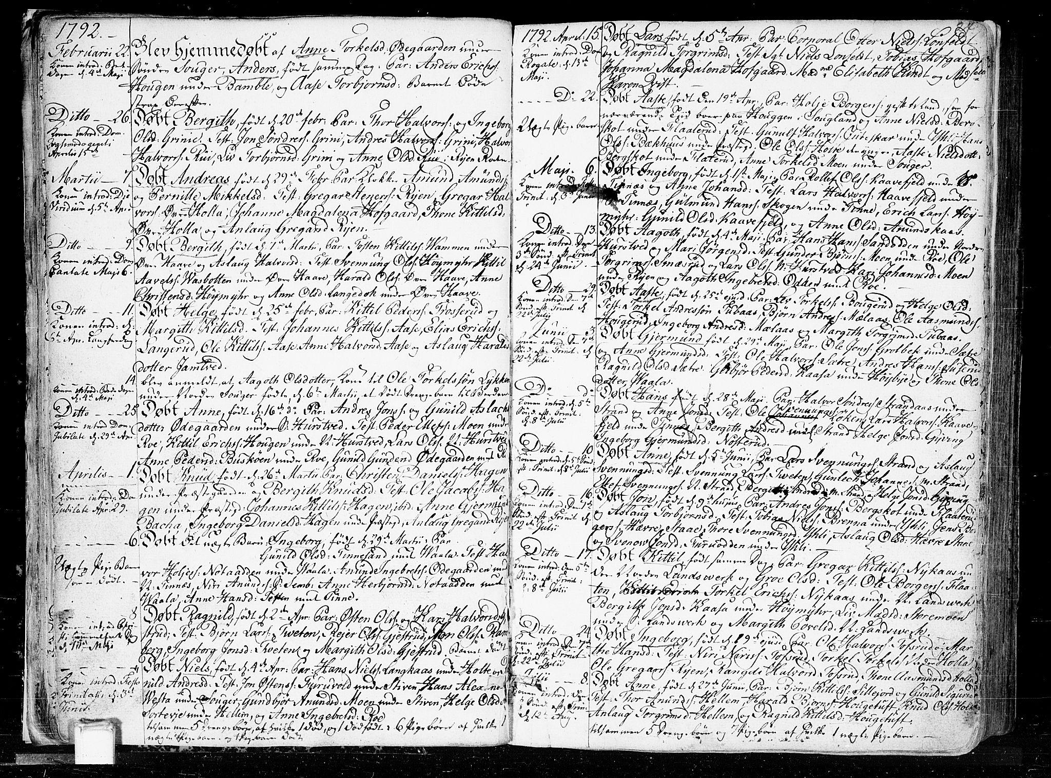 SAKO, Heddal kirkebøker, F/Fa/L0004: Ministerialbok nr. I 4, 1784-1814, s. 24