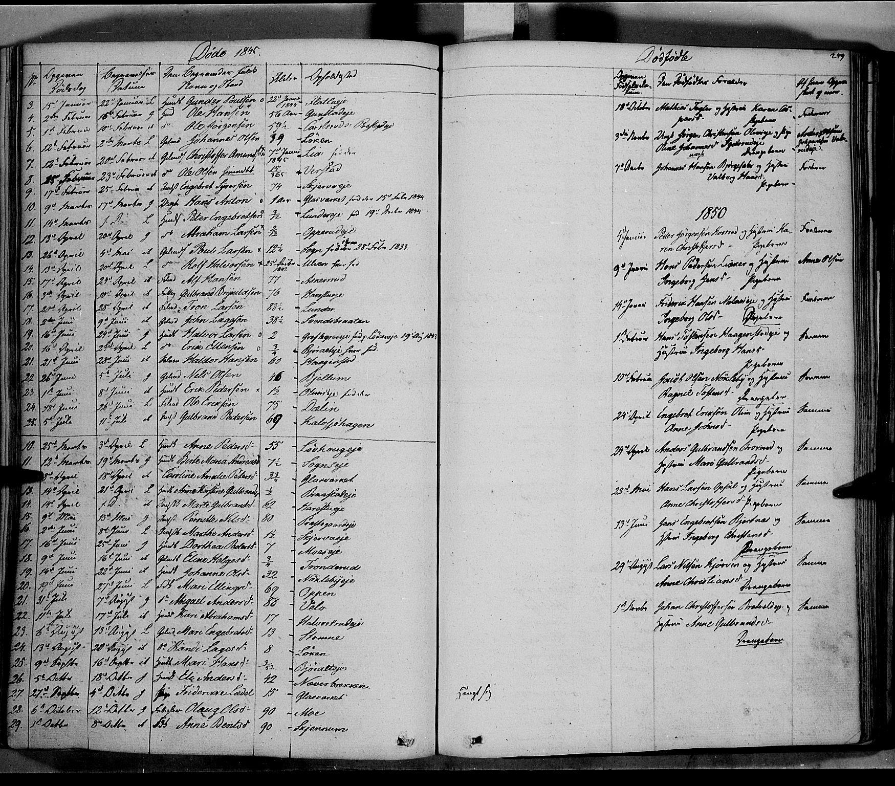 SAH, Jevnaker prestekontor, Ministerialbok nr. 6, 1837-1857, s. 249