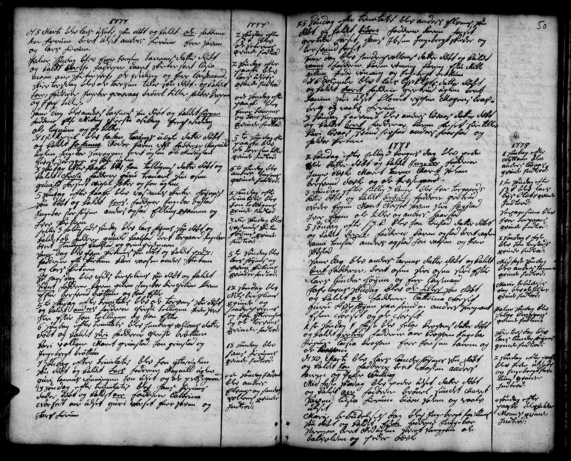 SAT, Ministerialprotokoller, klokkerbøker og fødselsregistre - Sør-Trøndelag, 618/L0437: Ministerialbok nr. 618A02, 1749-1782, s. 50