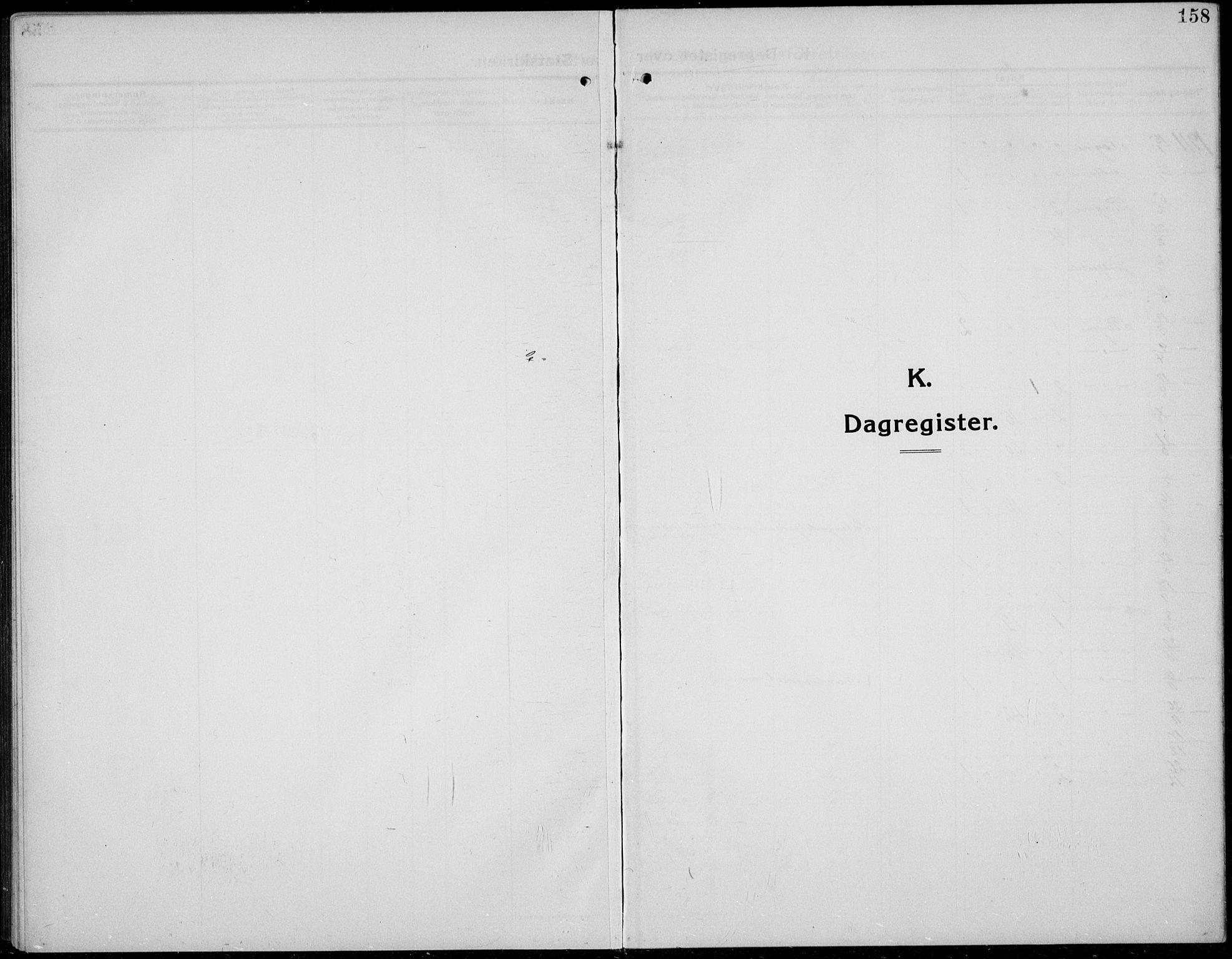 SAH, Øystre Slidre prestekontor, Klokkerbok nr. 8, 1911-1938, s. 158