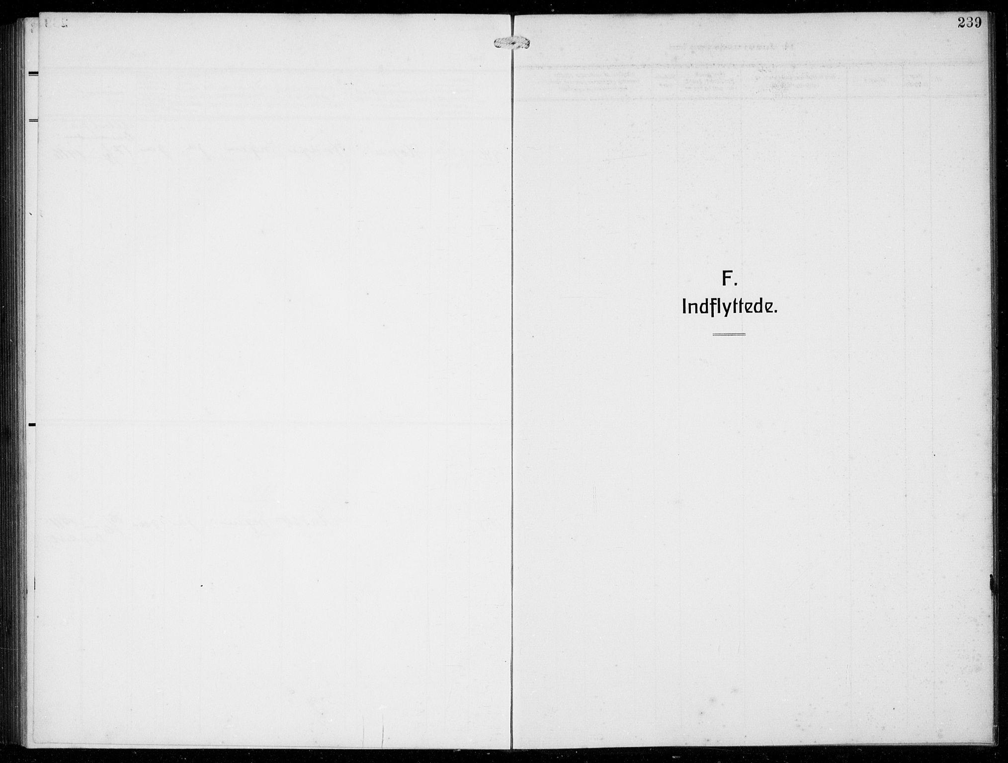 SAB, Masfjorden Sokneprestembete, Klokkerbok nr. B  2, 1912-1939, s. 239