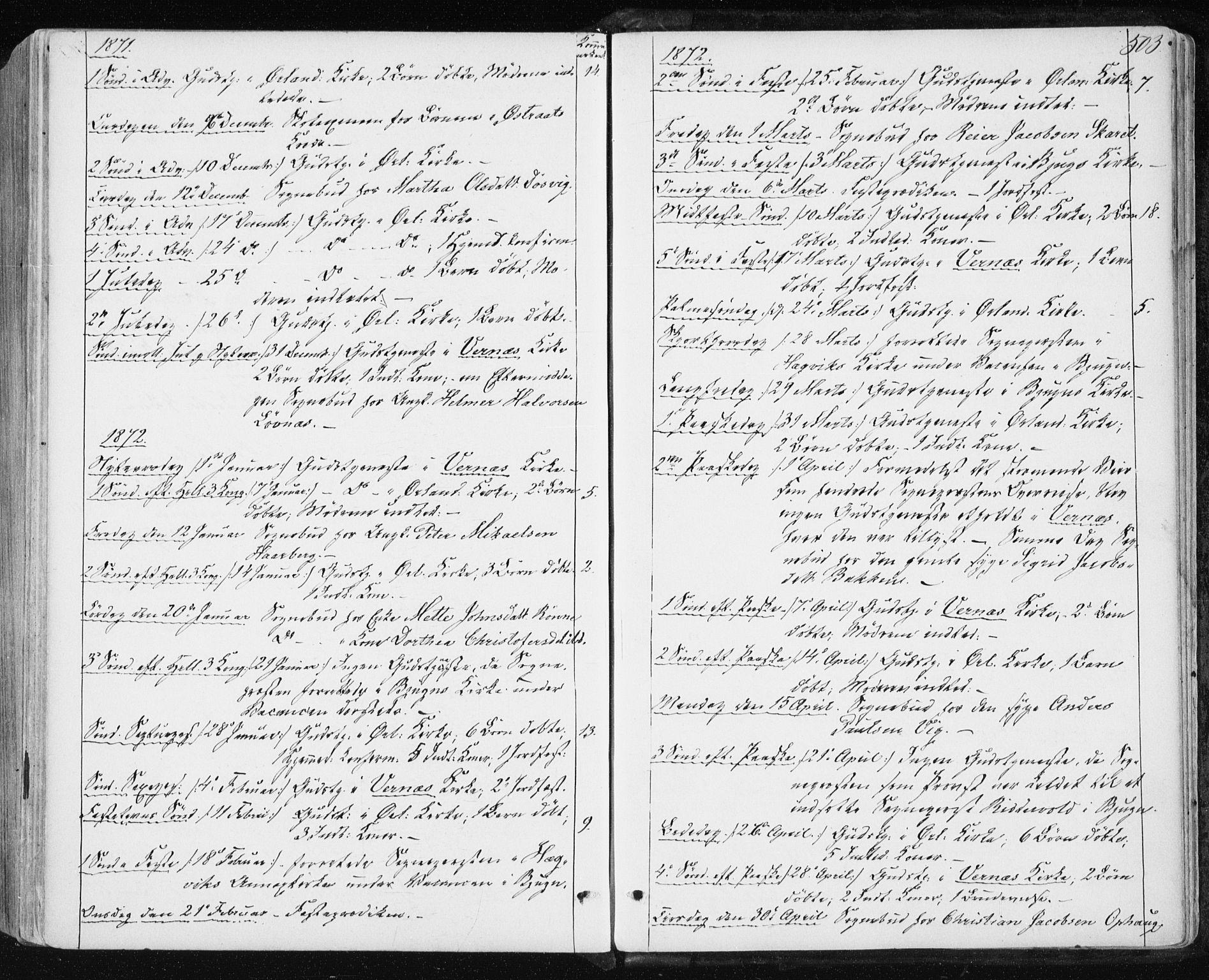 SAT, Ministerialprotokoller, klokkerbøker og fødselsregistre - Sør-Trøndelag, 659/L0737: Ministerialbok nr. 659A07, 1857-1875, s. 503