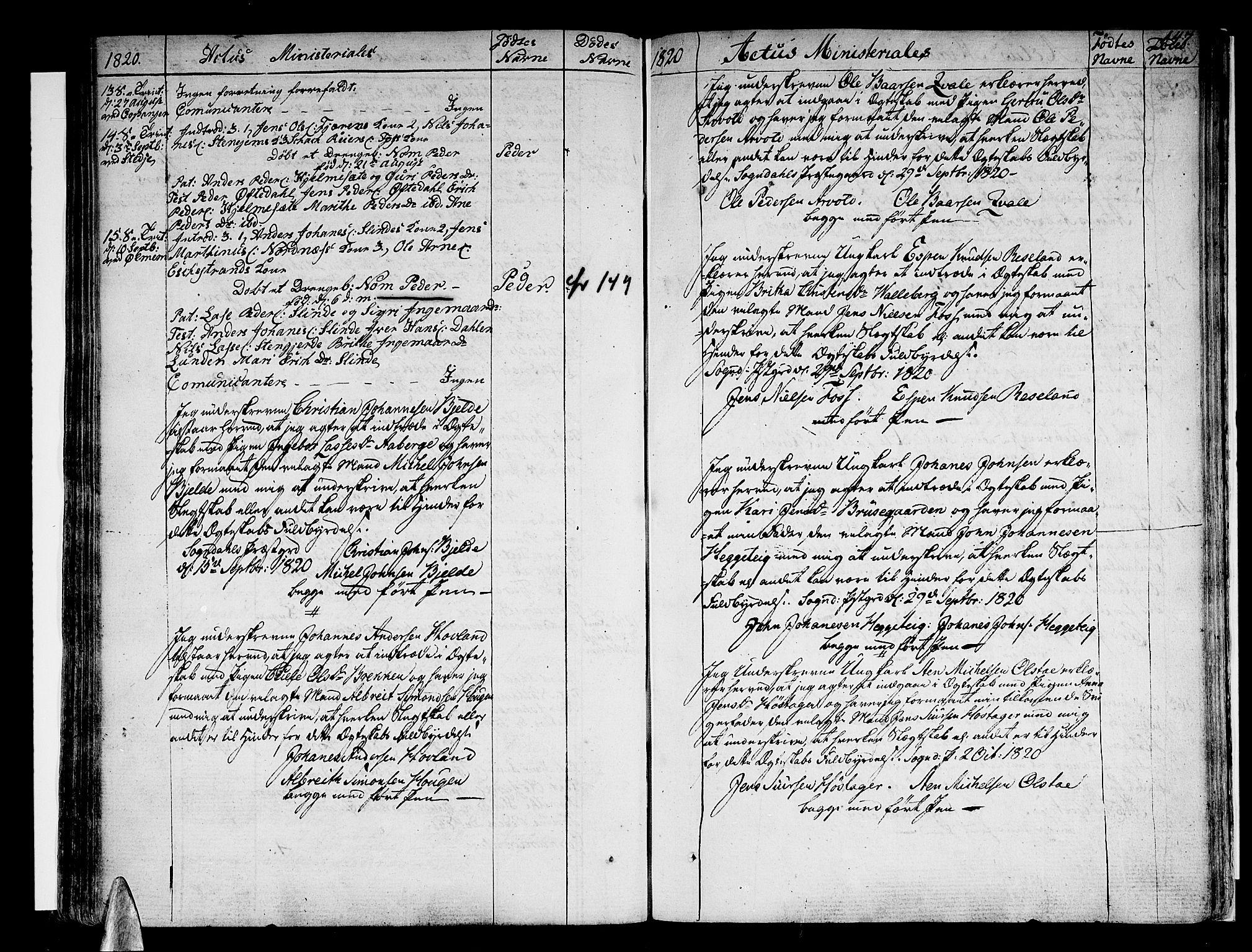 SAB, Sogndal sokneprestembete, H/Haa/Haaa/L0009: Ministerialbok nr. A 9, 1809-1821, s. 147