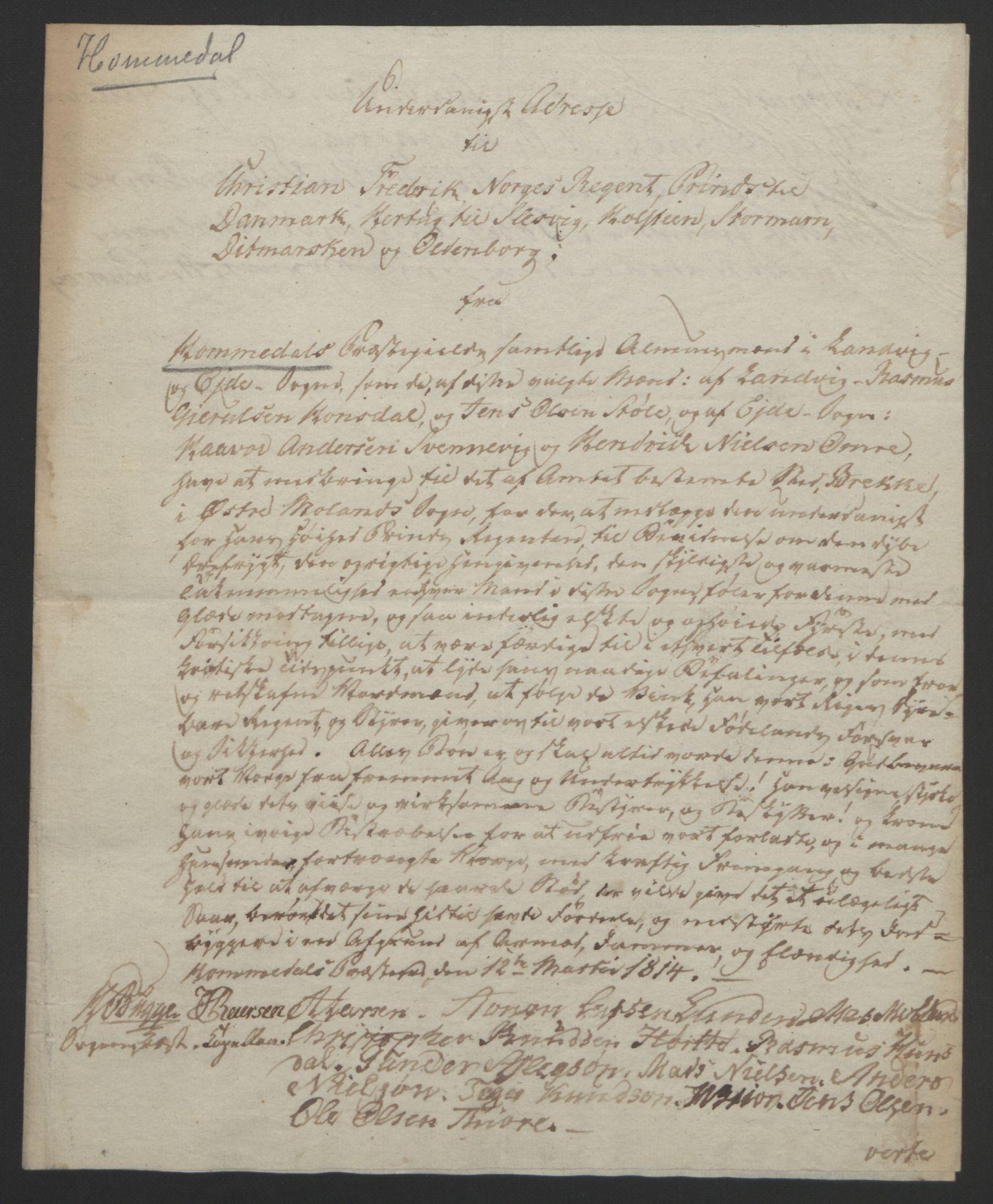 RA, Statsrådssekretariatet, D/Db/L0008: Fullmakter for Eidsvollsrepresentantene i 1814. , 1814, s. 88