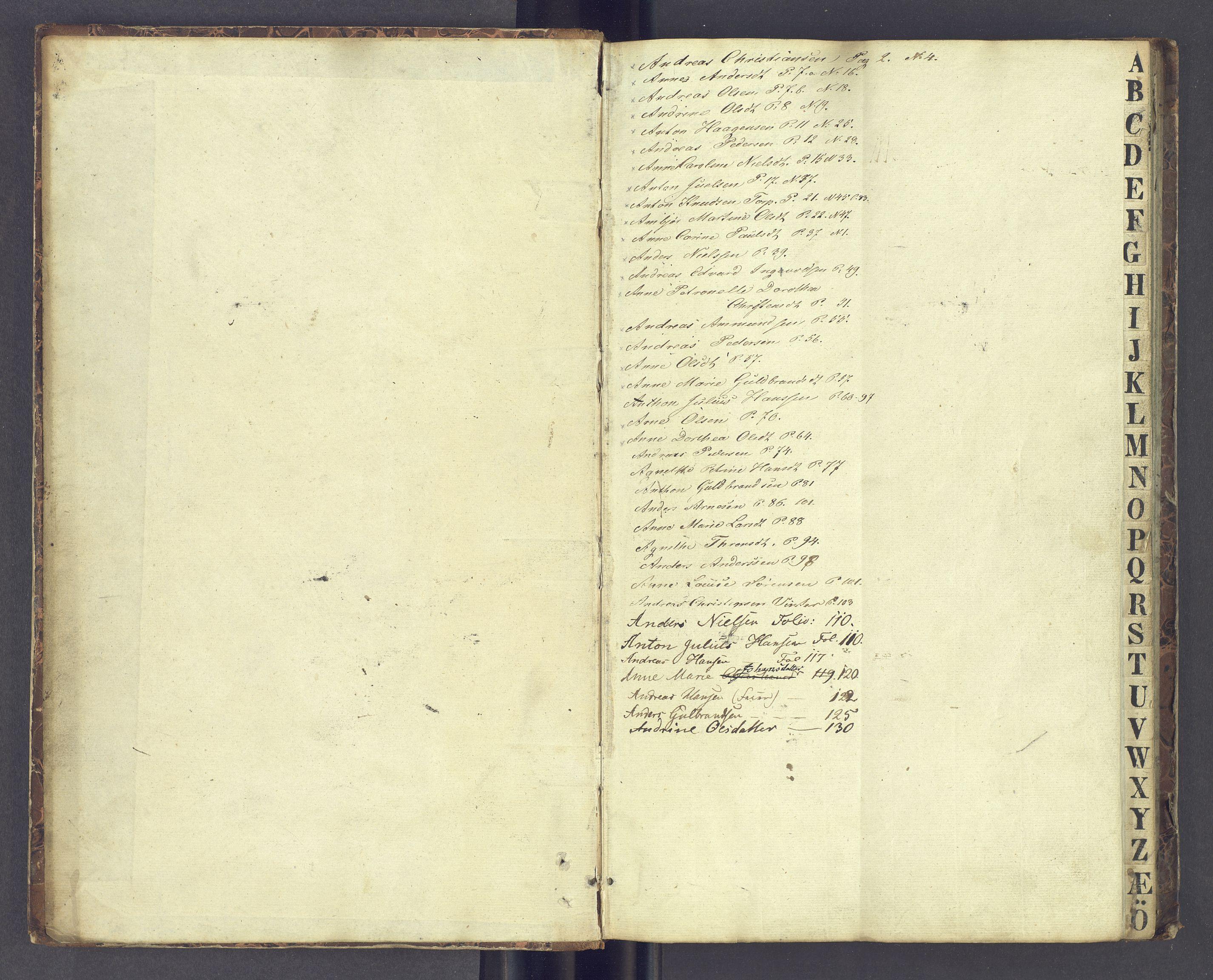 SAH, Toftes Gave, F/Fc/L0001: Elevprotokoll, 1841-1847, s. upaginert