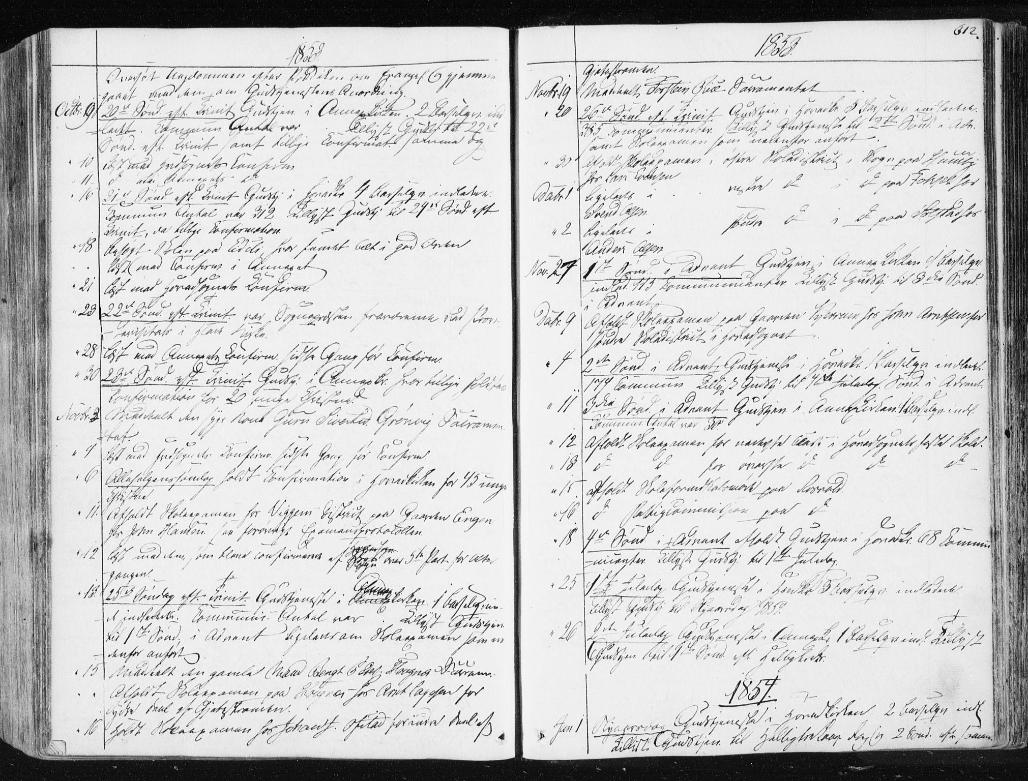 SAT, Ministerialprotokoller, klokkerbøker og fødselsregistre - Sør-Trøndelag, 665/L0771: Ministerialbok nr. 665A06, 1830-1856, s. 612
