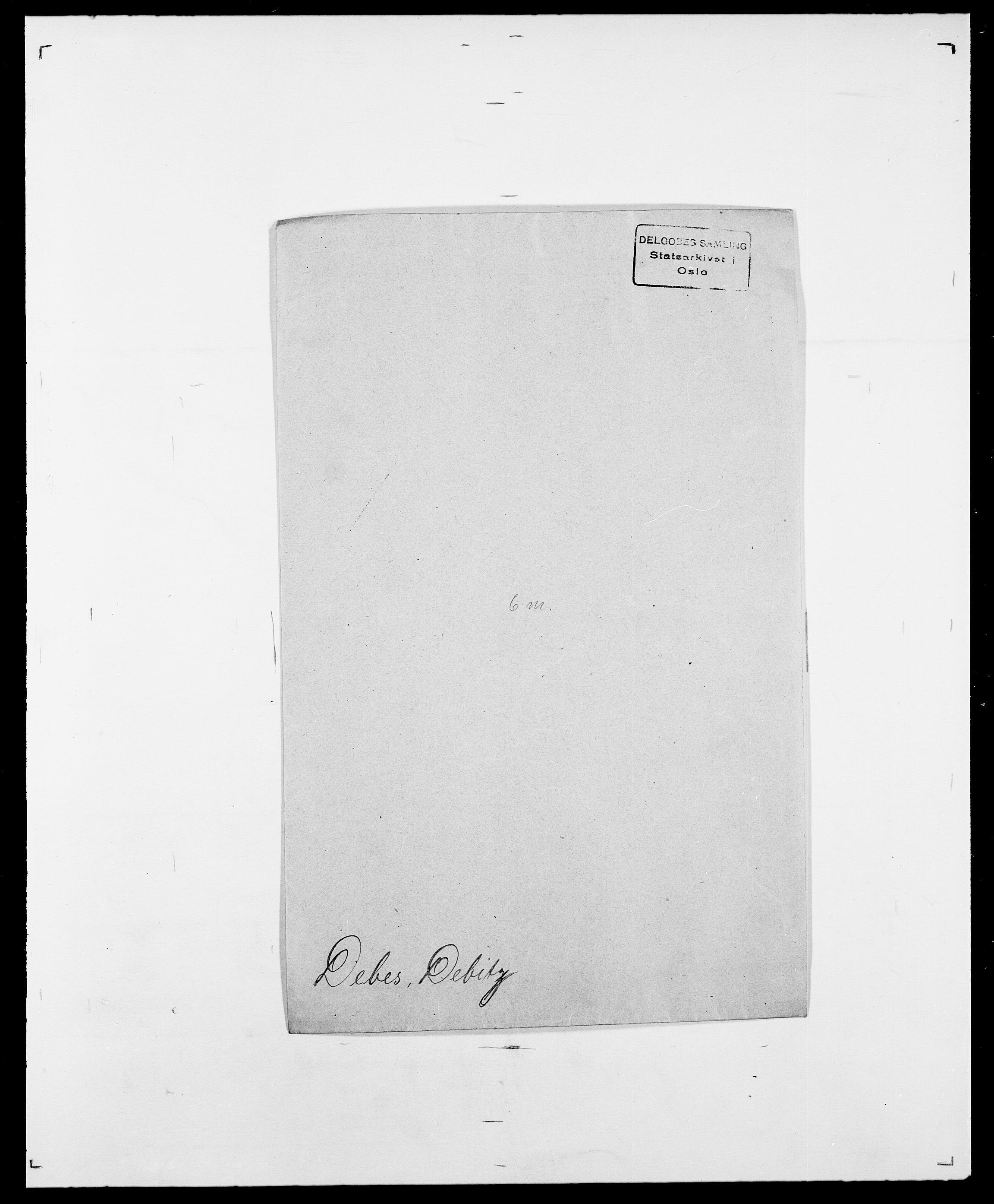 SAO, Delgobe, Charles Antoine - samling, D/Da/L0009: Dahl - v. Düren, s. 383