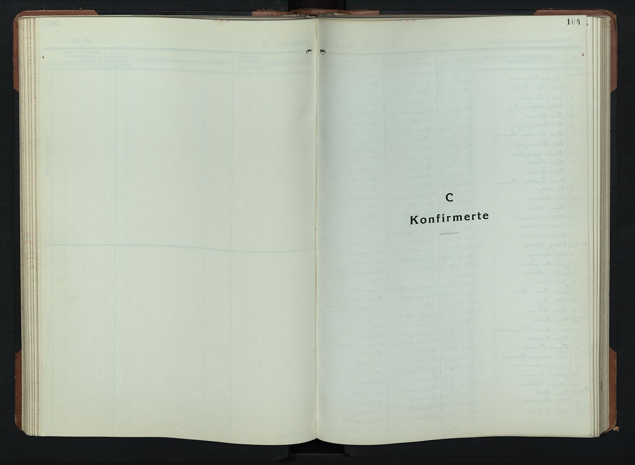 SAH, Balke prestekontor, Klokkerbok nr. 2, 1929-1951, s. 104