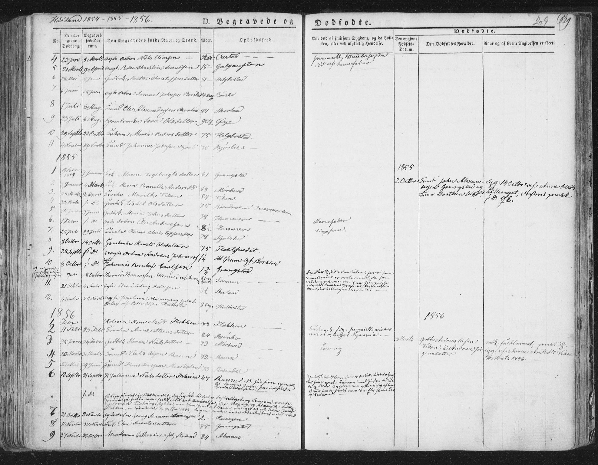 SAT, Ministerialprotokoller, klokkerbøker og fødselsregistre - Nord-Trøndelag, 758/L0513: Ministerialbok nr. 758A02 /2, 1839-1868, s. 209
