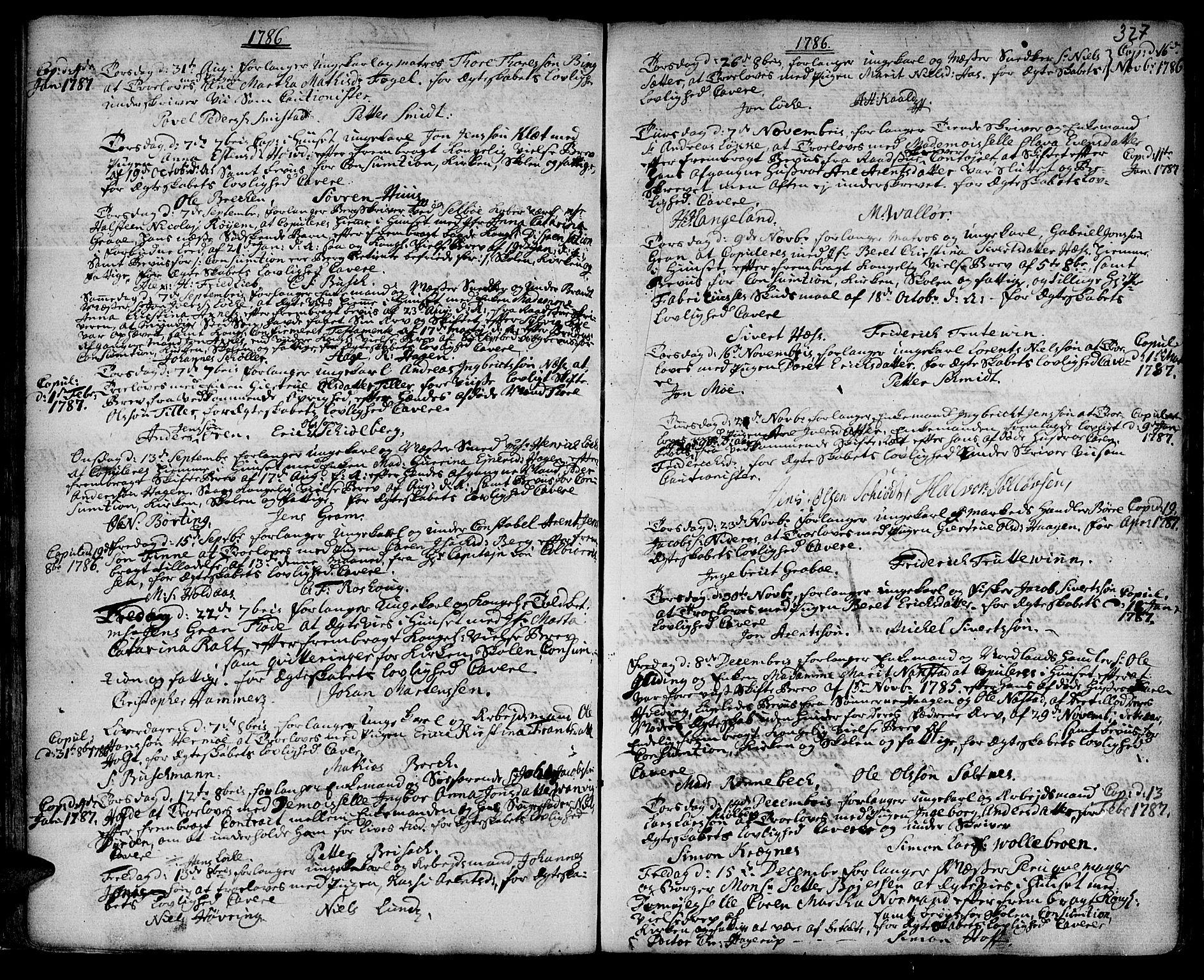 SAT, Ministerialprotokoller, klokkerbøker og fødselsregistre - Sør-Trøndelag, 601/L0038: Ministerialbok nr. 601A06, 1766-1877, s. 327