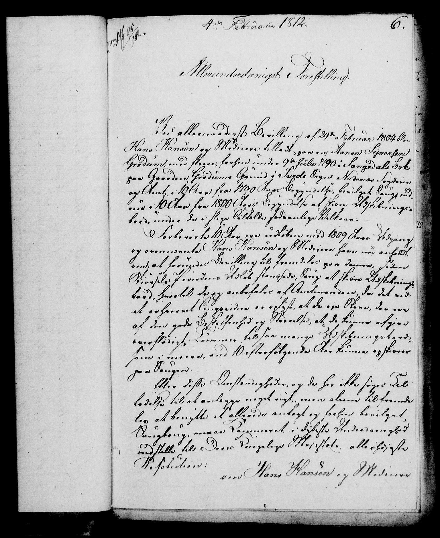 RA, Rentekammeret, Kammerkanselliet, G/Gf/Gfa/L0094: Norsk relasjons- og resolusjonsprotokoll (merket RK 52.94), 1812, s. 48