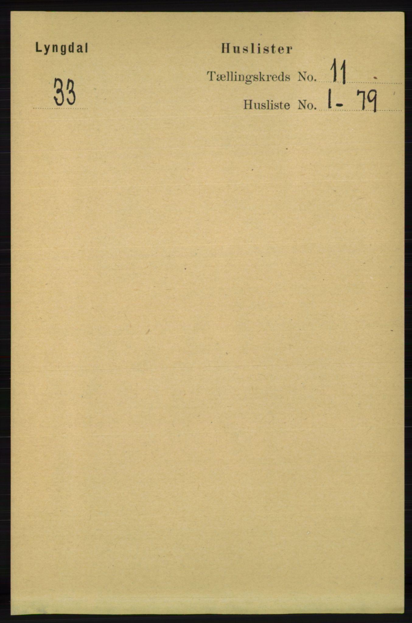 RA, Folketelling 1891 for 1032 Lyngdal herred, 1891, s. 4731