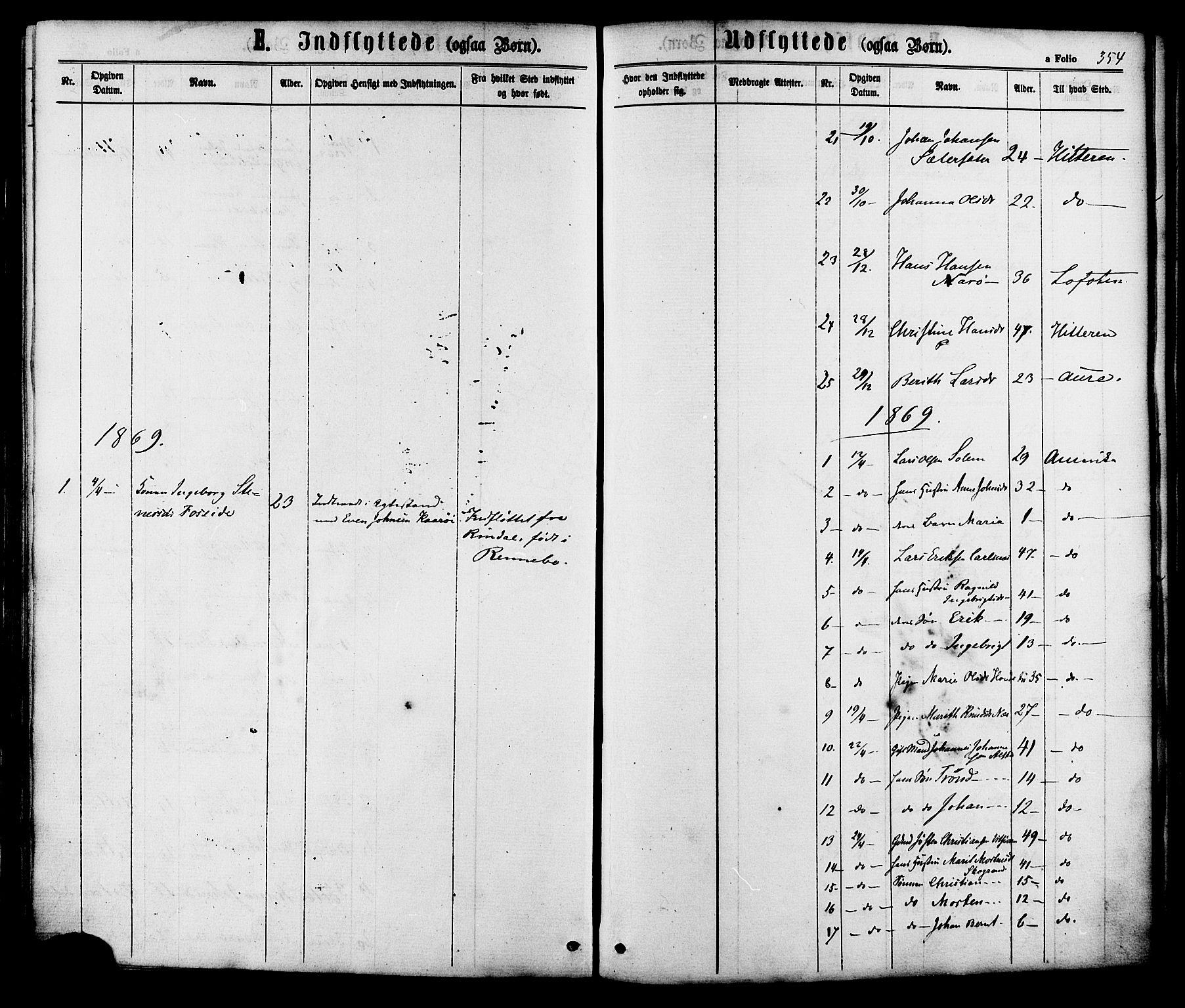 SAT, Ministerialprotokoller, klokkerbøker og fødselsregistre - Sør-Trøndelag, 630/L0495: Ministerialbok nr. 630A08, 1868-1878, s. 354