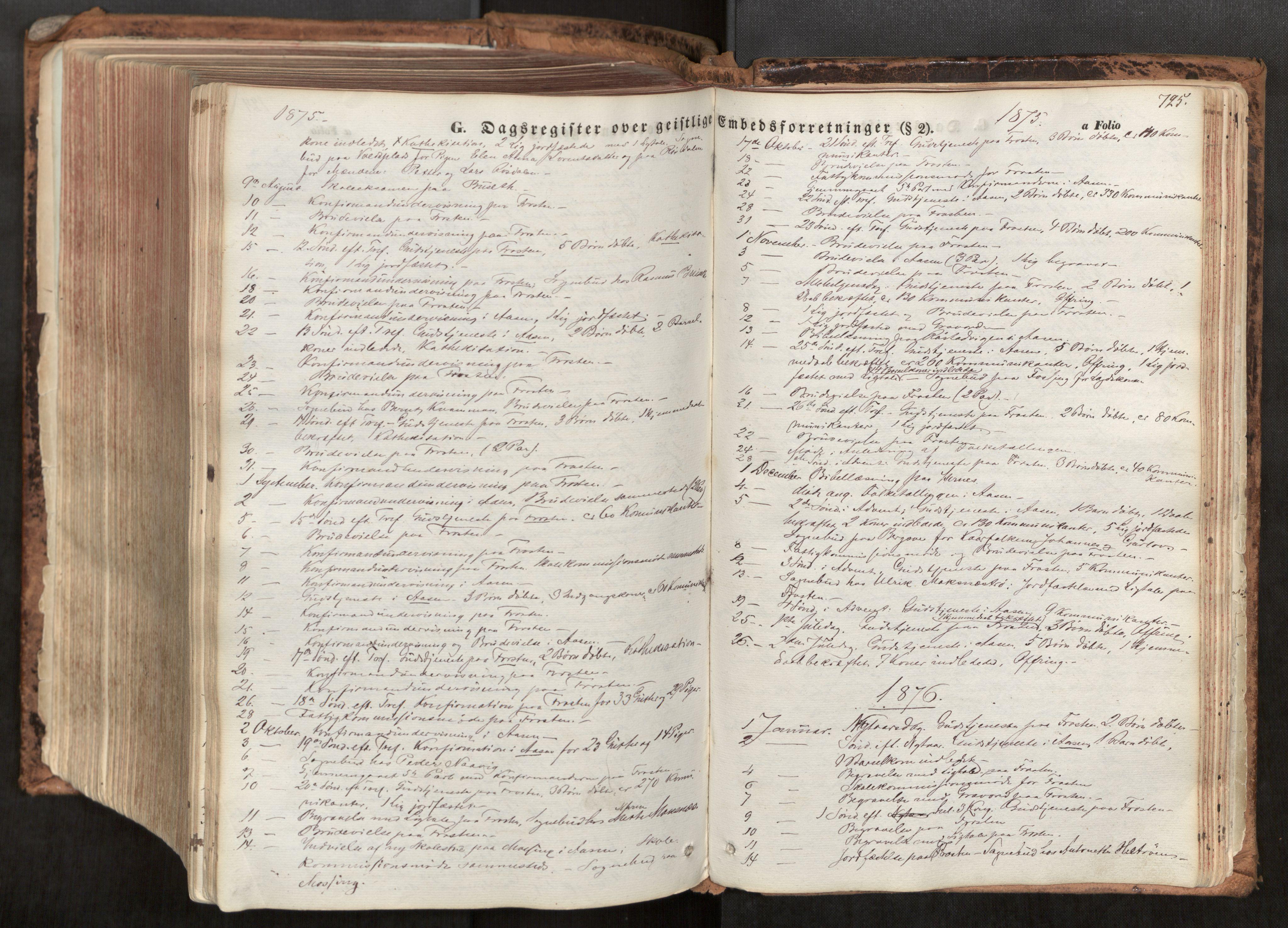 SAT, Ministerialprotokoller, klokkerbøker og fødselsregistre - Nord-Trøndelag, 713/L0116: Ministerialbok nr. 713A07, 1850-1877, s. 725
