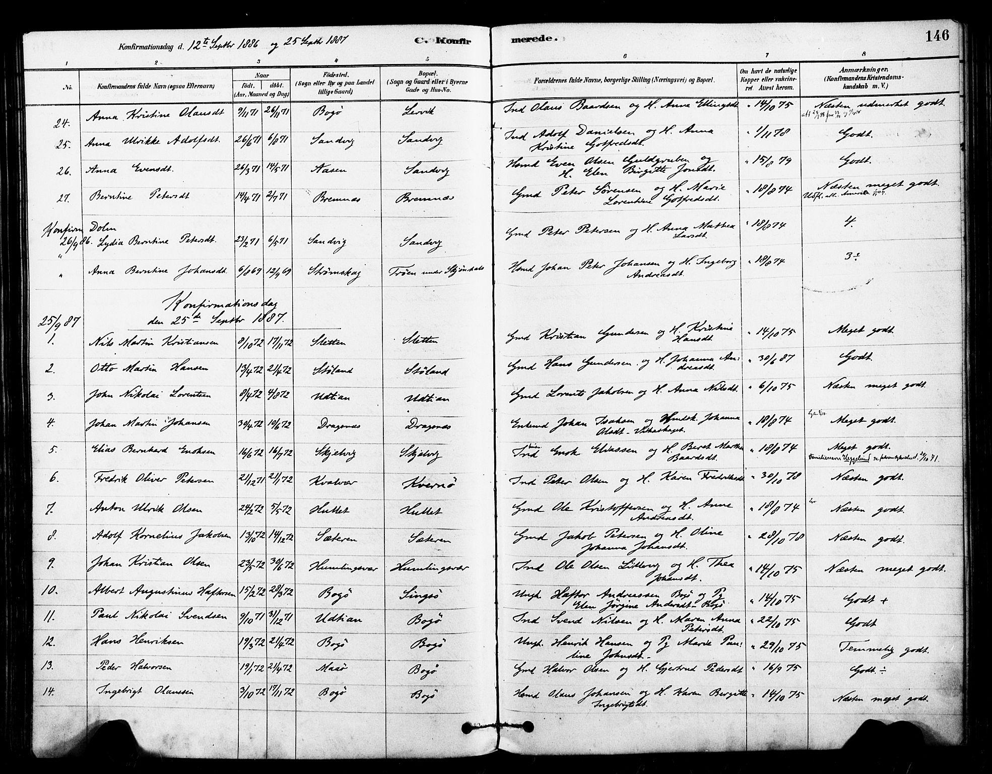 SAT, Ministerialprotokoller, klokkerbøker og fødselsregistre - Sør-Trøndelag, 640/L0578: Ministerialbok nr. 640A03, 1879-1889, s. 146