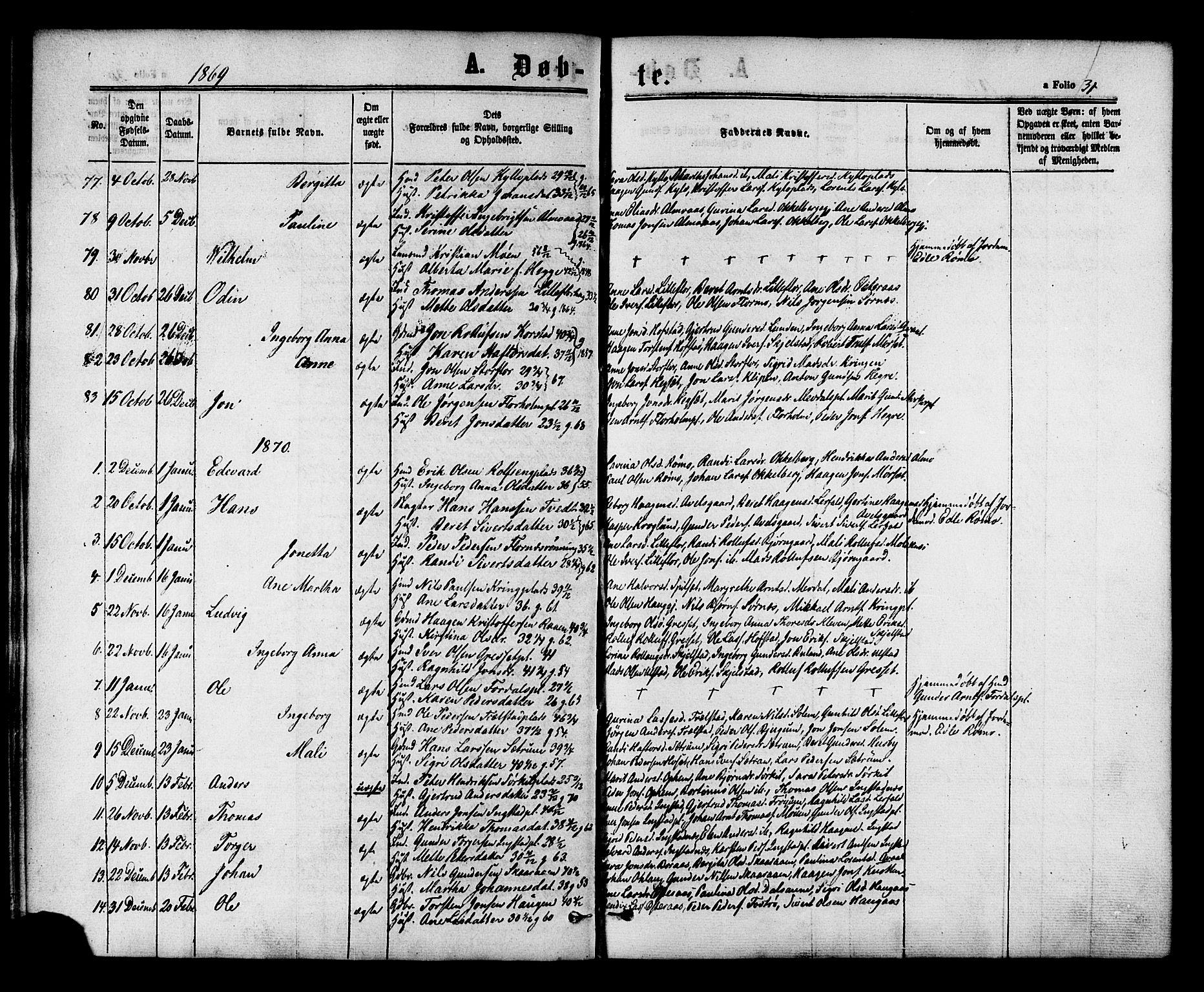 SAT, Ministerialprotokoller, klokkerbøker og fødselsregistre - Nord-Trøndelag, 703/L0029: Ministerialbok nr. 703A02, 1863-1879, s. 31