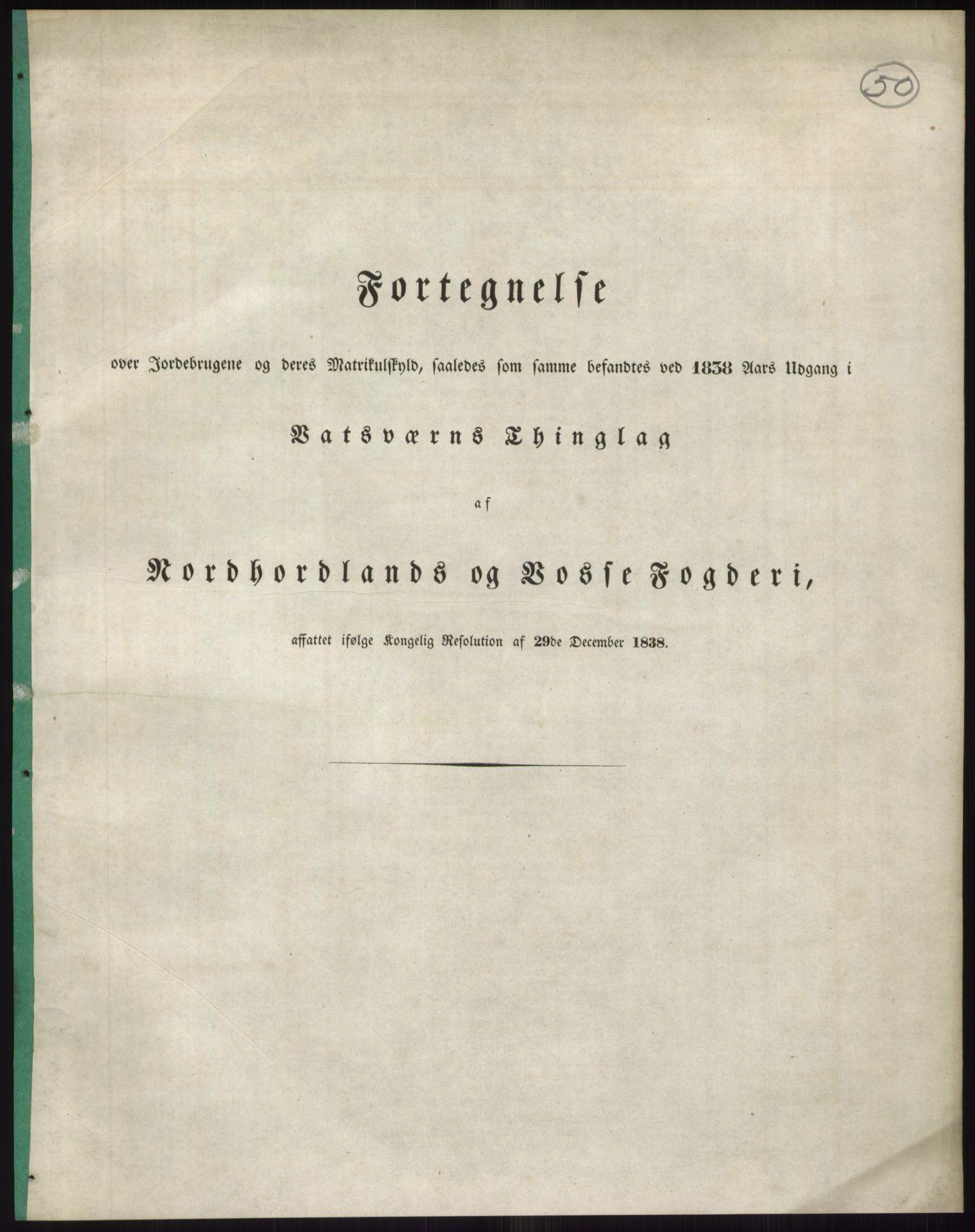 PUBL, Andre publikasjoner, -/Bind 12: Søndre Bergenhus amt: Nordhordland og Voss fogderi, 1838, s. 89