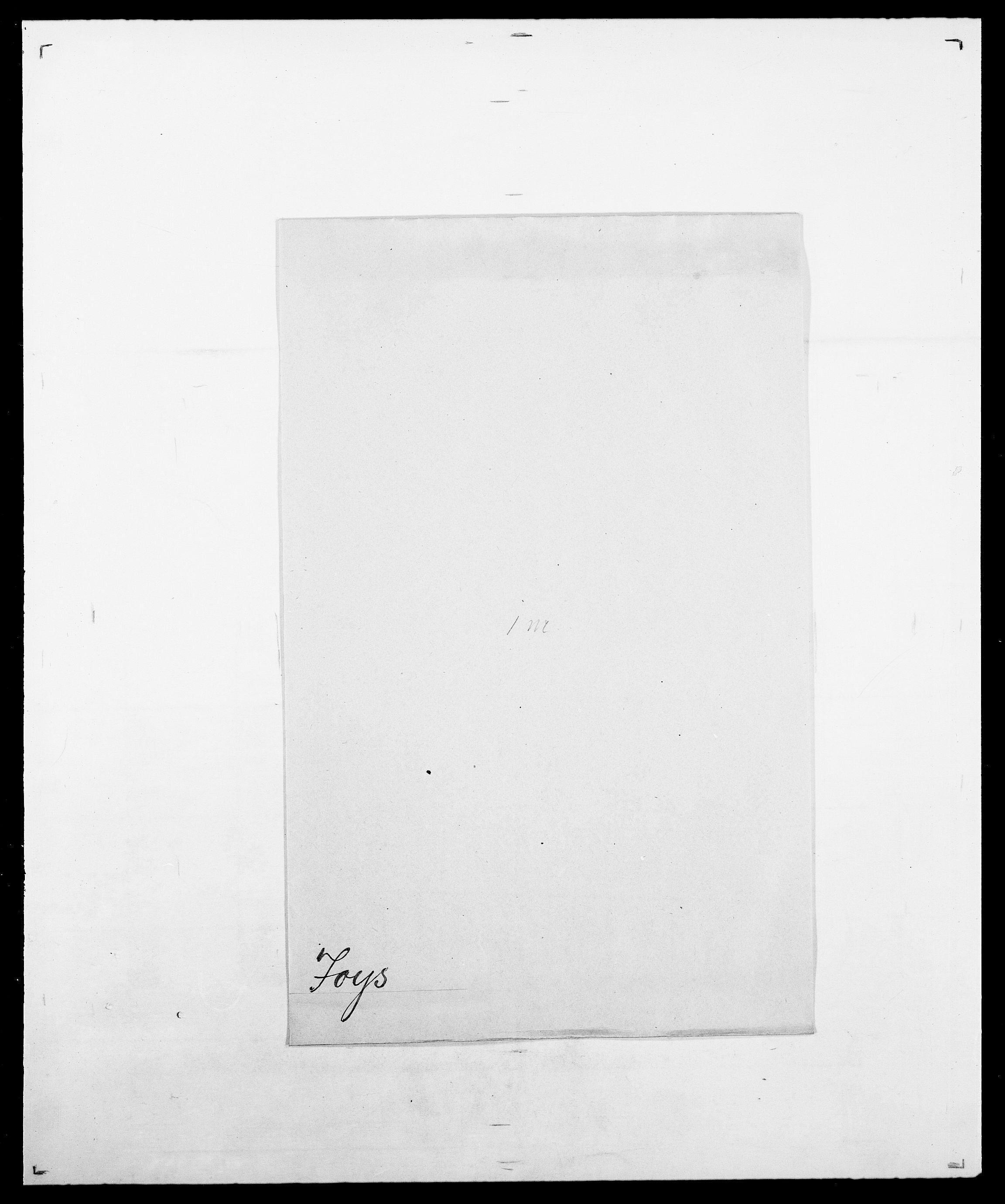 SAO, Delgobe, Charles Antoine - samling, D/Da/L0019: van der Hude - Joys, s. 922