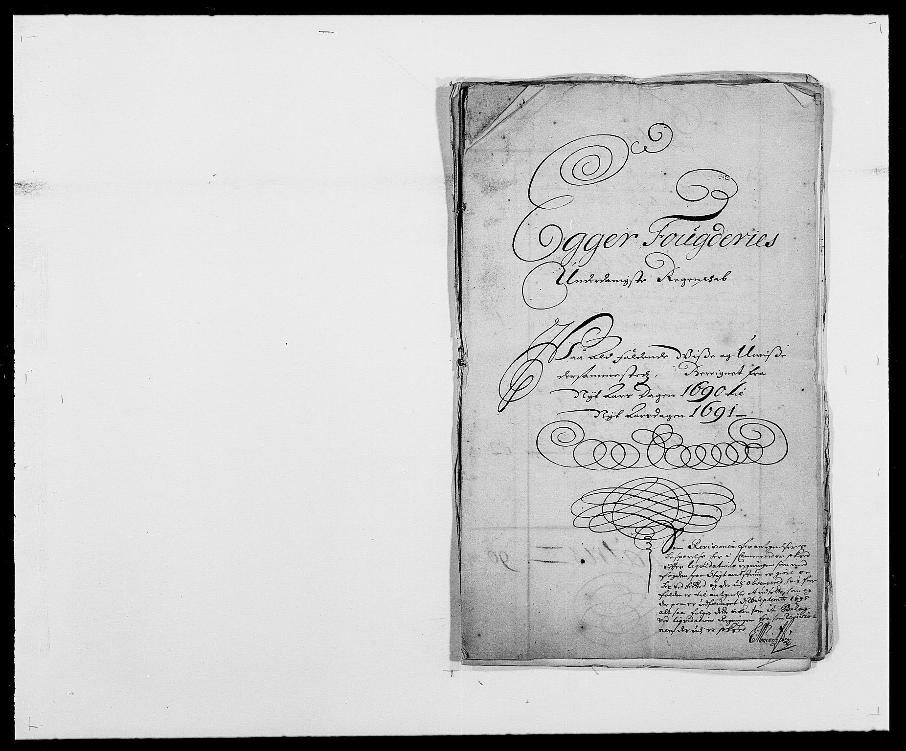 RA, Rentekammeret inntil 1814, Reviderte regnskaper, Fogderegnskap, R28/L1689: Fogderegnskap Eiker og Lier, 1690-1691, s. 1
