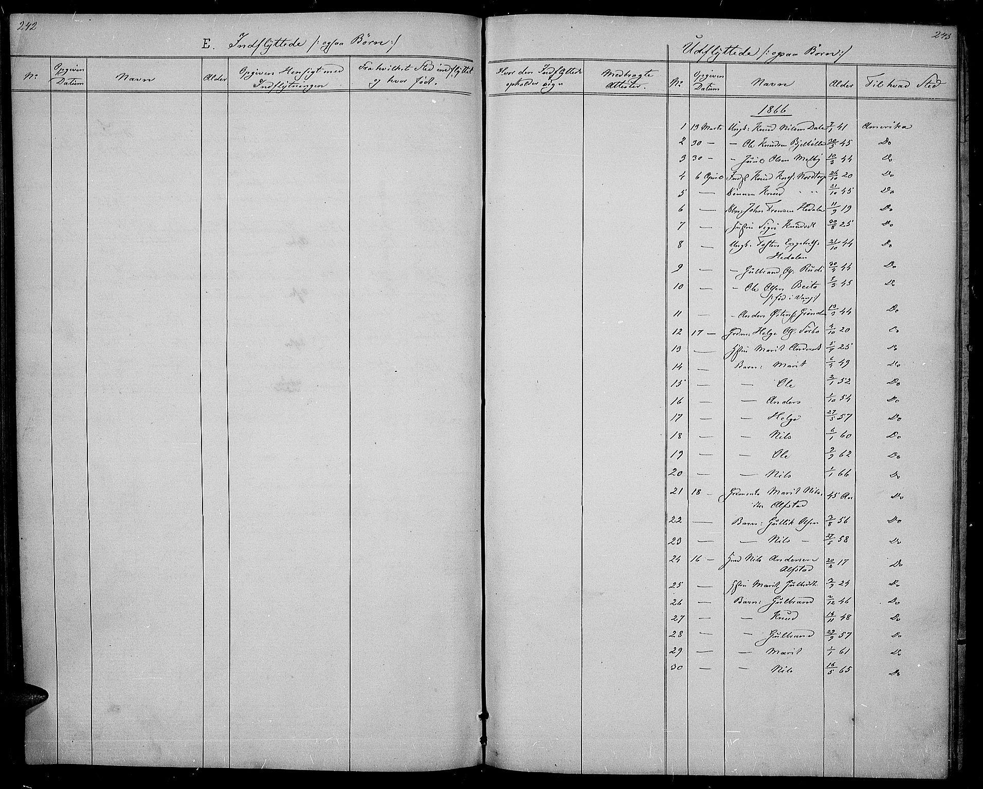SAH, Øystre Slidre prestekontor, Klokkerbok nr. 1, 1866-1886, s. 242-243