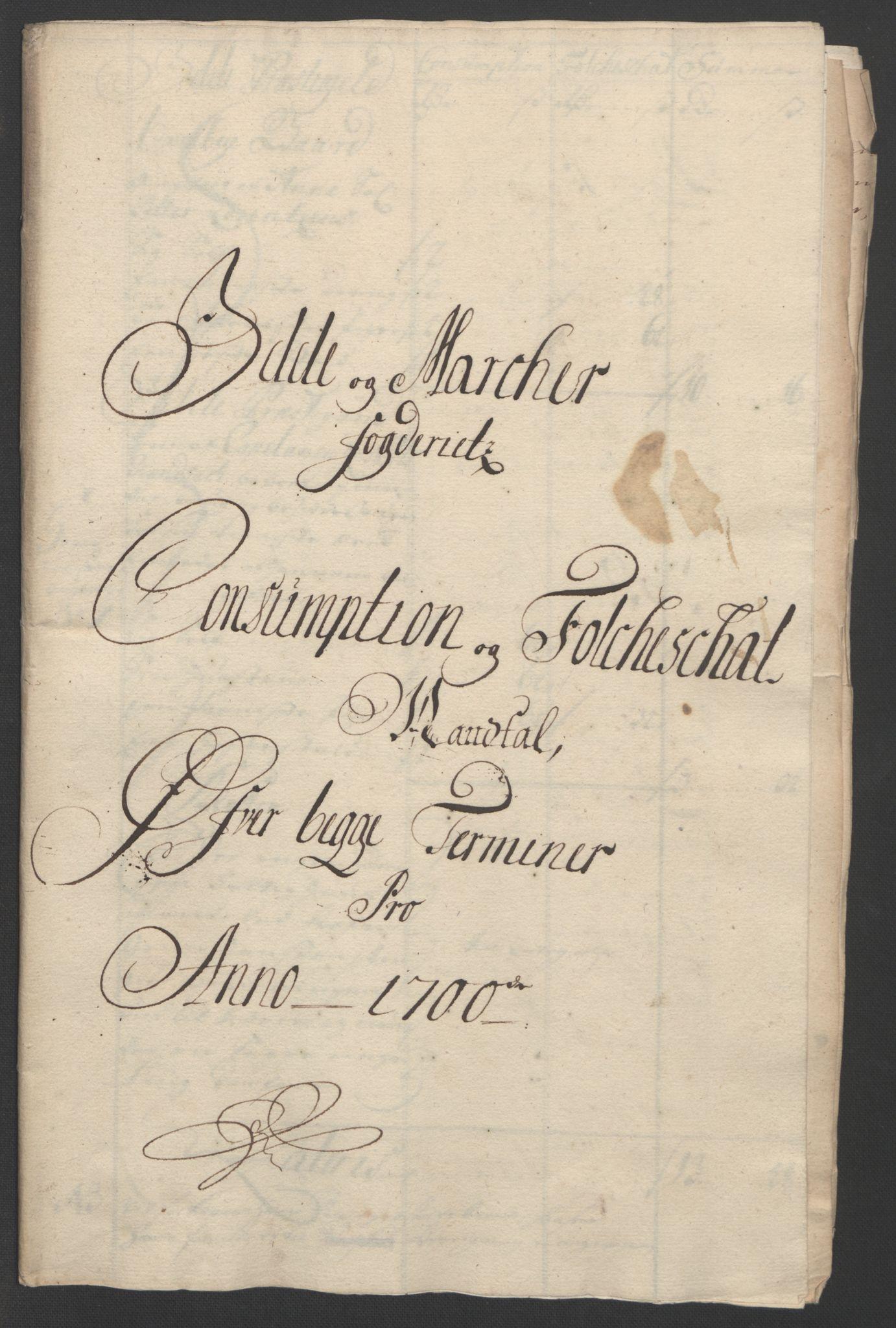 RA, Rentekammeret inntil 1814, Reviderte regnskaper, Fogderegnskap, R01/L0015: Fogderegnskap Idd og Marker, 1700-1701, s. 131