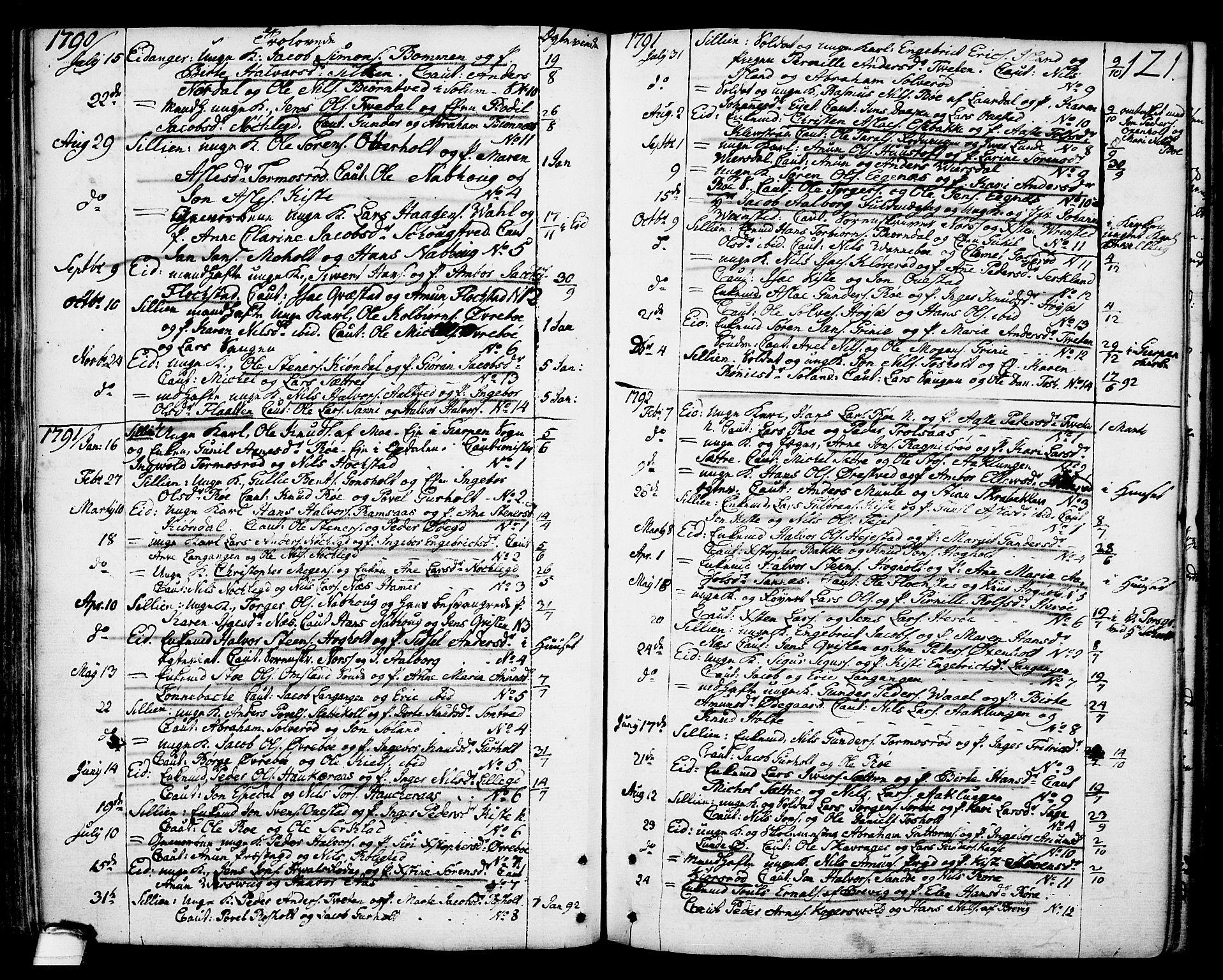 SAKO, Eidanger kirkebøker, F/Fa/L0006: Ministerialbok nr. 6, 1764-1814, s. 121