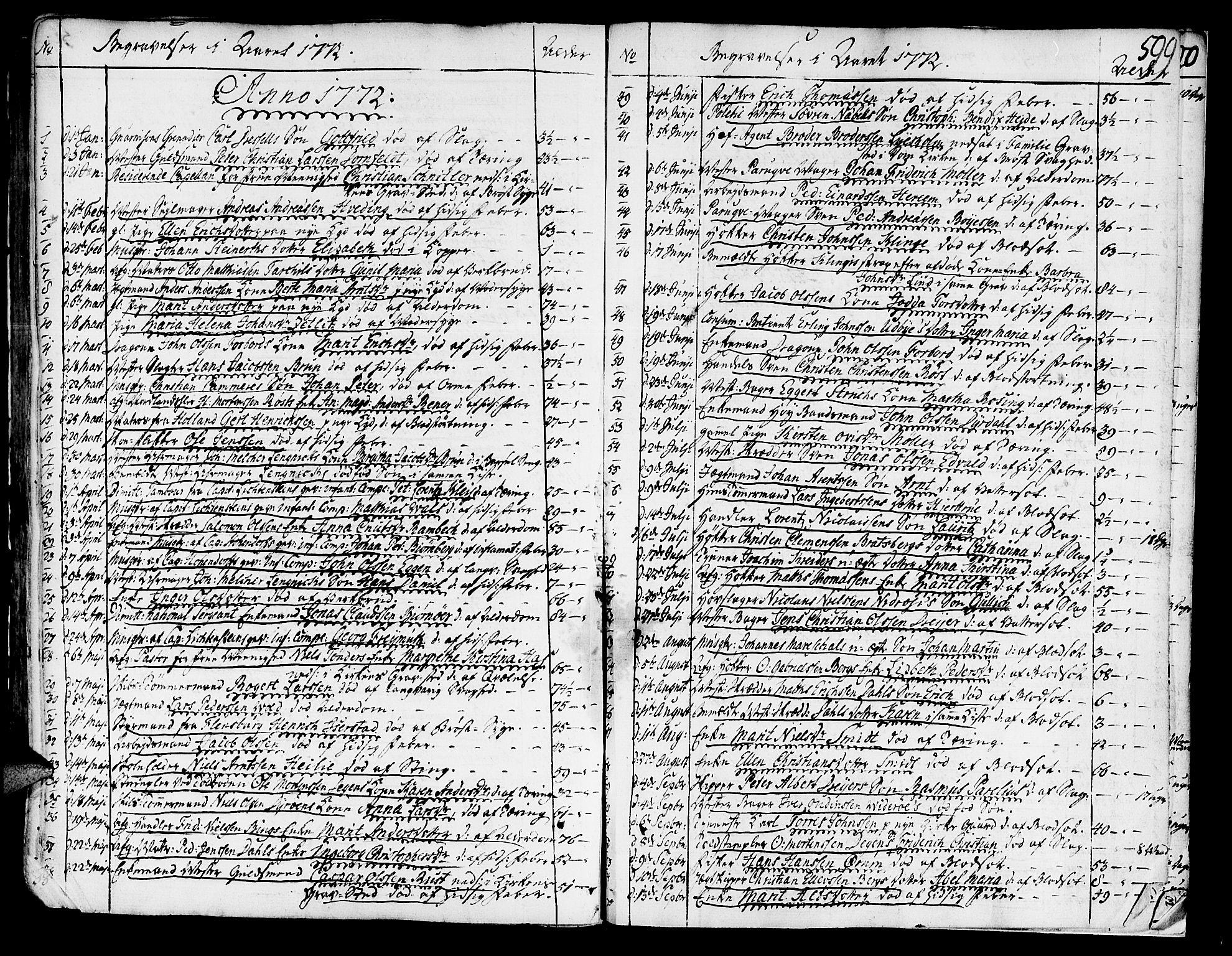 SAT, Ministerialprotokoller, klokkerbøker og fødselsregistre - Sør-Trøndelag, 602/L0103: Ministerialbok nr. 602A01, 1732-1774, s. 599