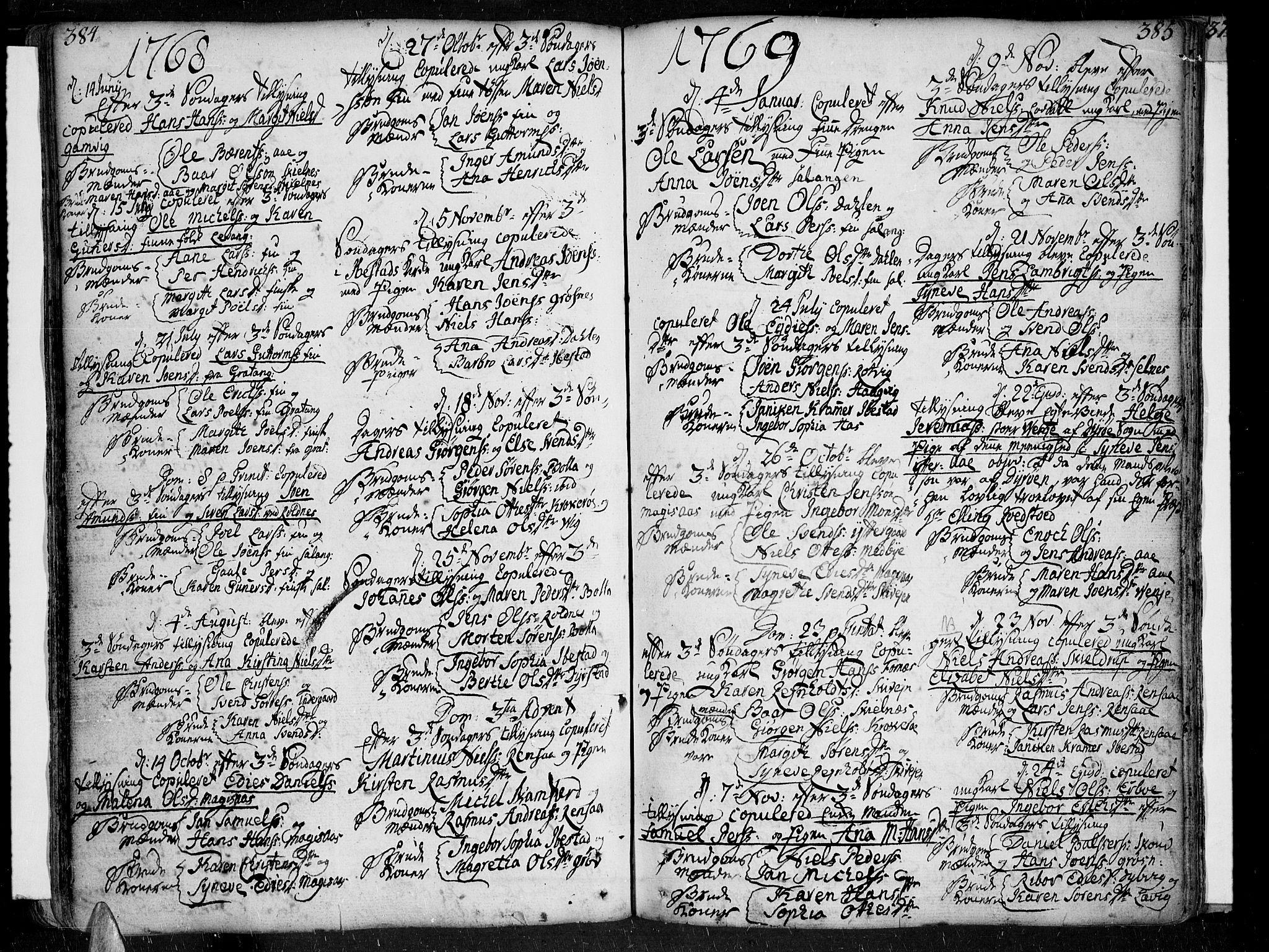 SATØ, Ibestad sokneprestembete, Ministerialbok nr. 2, 1751-1775, s. 384-385