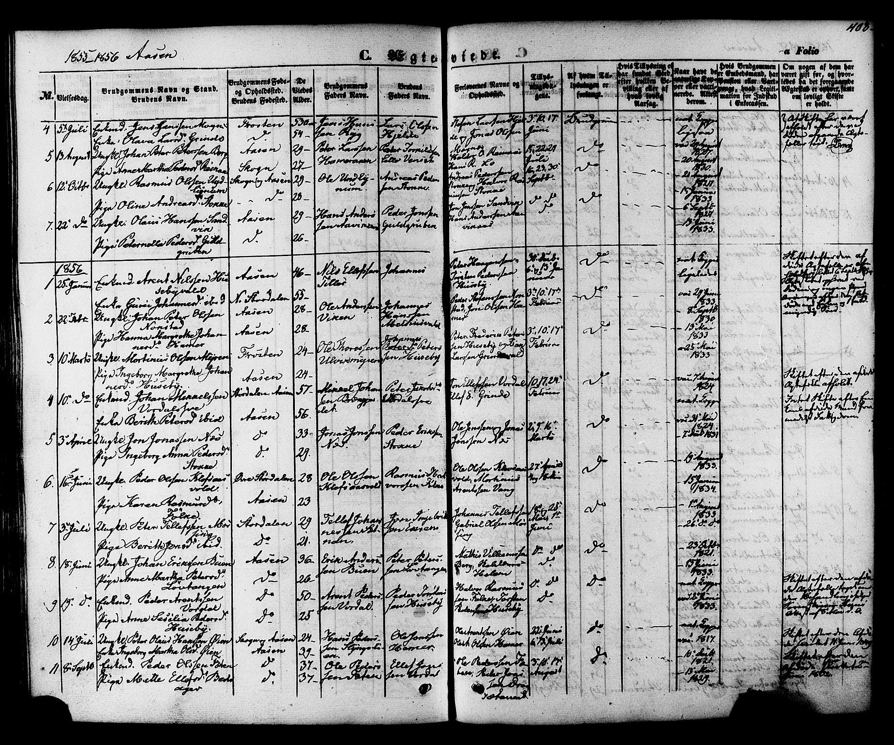 SAT, Ministerialprotokoller, klokkerbøker og fødselsregistre - Nord-Trøndelag, 713/L0116: Ministerialbok nr. 713A07 /2, 1850-1877, s. 408