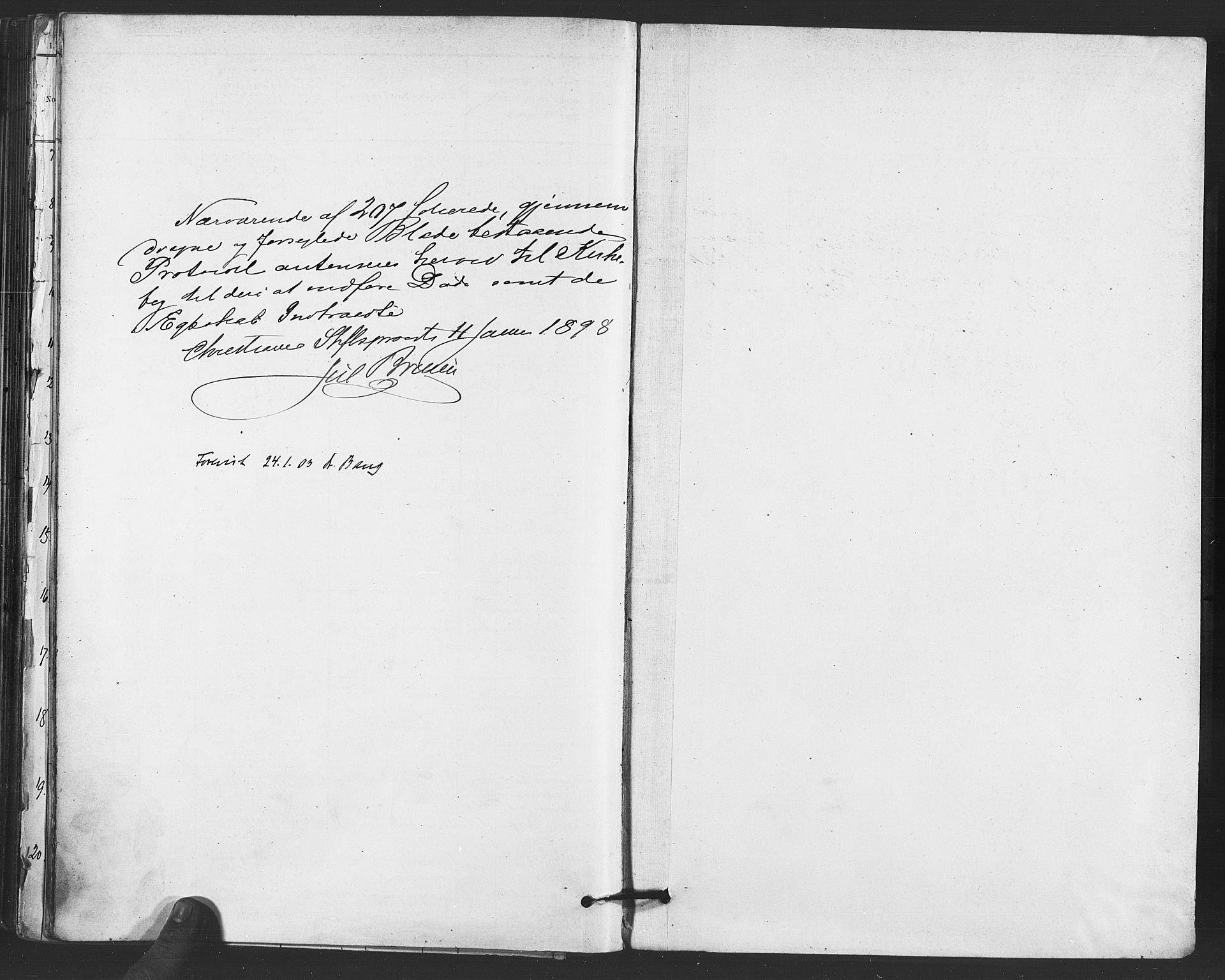SAO, Paulus prestekontor Kirkebøker, F/Fa/L0012: Ministerialbok nr. 12, 1897-1908