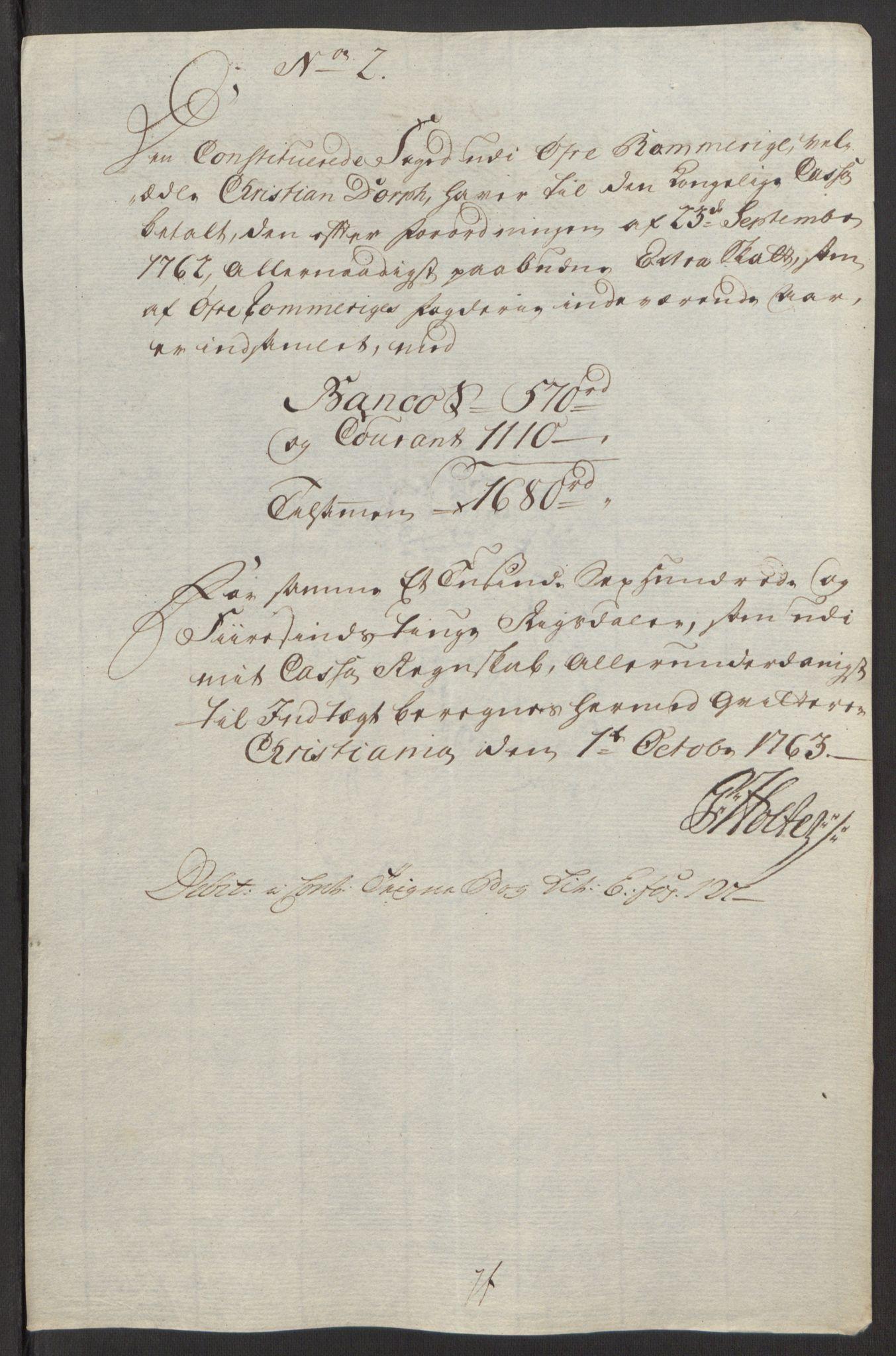 RA, Rentekammeret inntil 1814, Reviderte regnskaper, Fogderegnskap, R12/L0803: Ekstraskatten Øvre Romerike, 1763-1764, s. 173