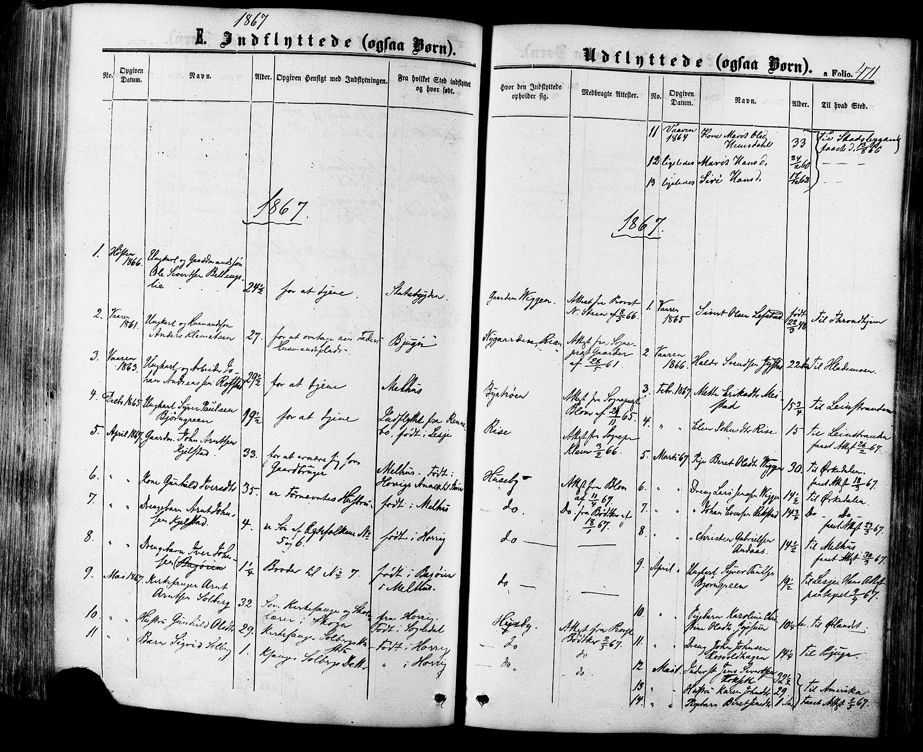 SAT, Ministerialprotokoller, klokkerbøker og fødselsregistre - Sør-Trøndelag, 665/L0772: Ministerialbok nr. 665A07, 1856-1878, s. 471
