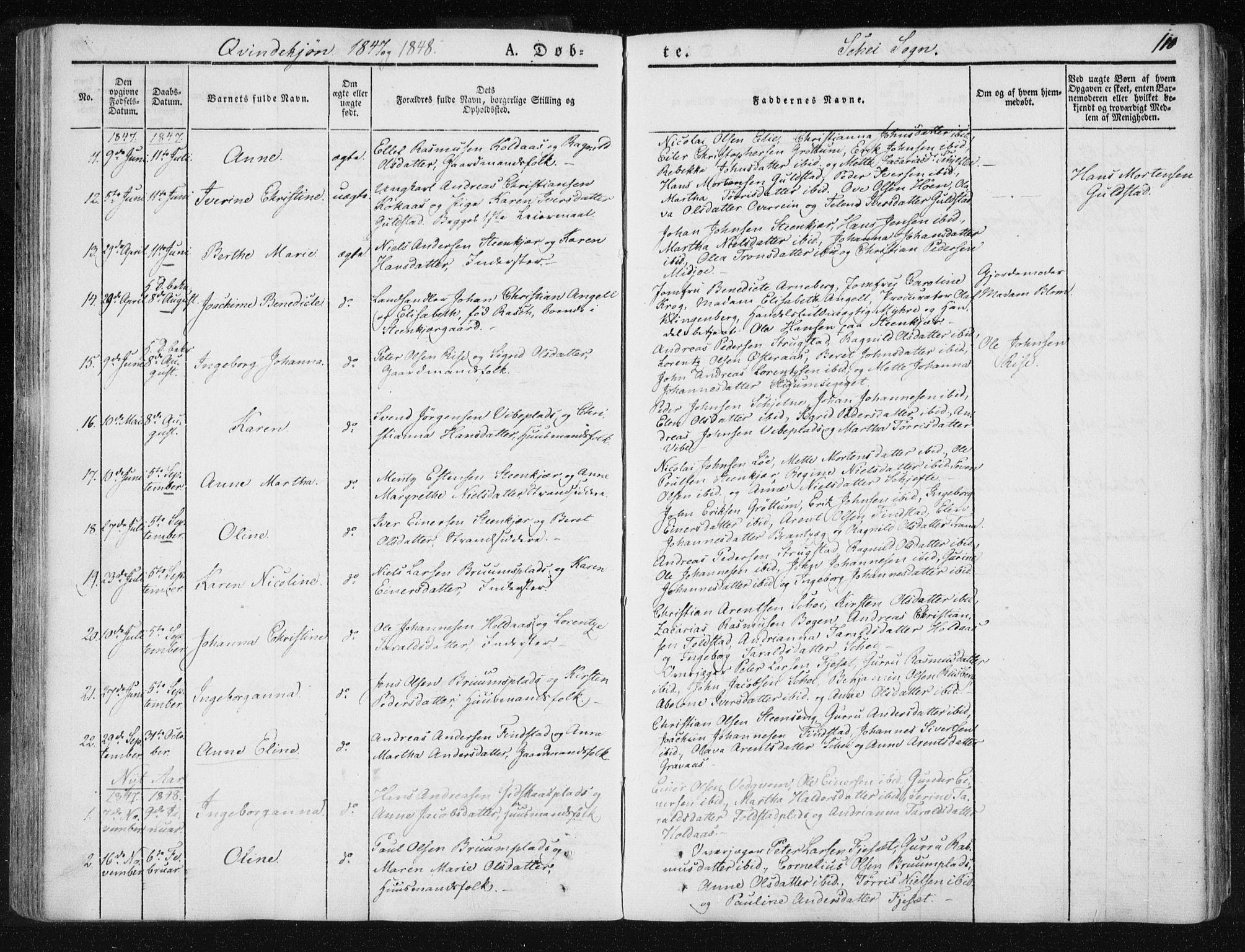 SAT, Ministerialprotokoller, klokkerbøker og fødselsregistre - Nord-Trøndelag, 735/L0339: Ministerialbok nr. 735A06 /2, 1836-1848, s. 110