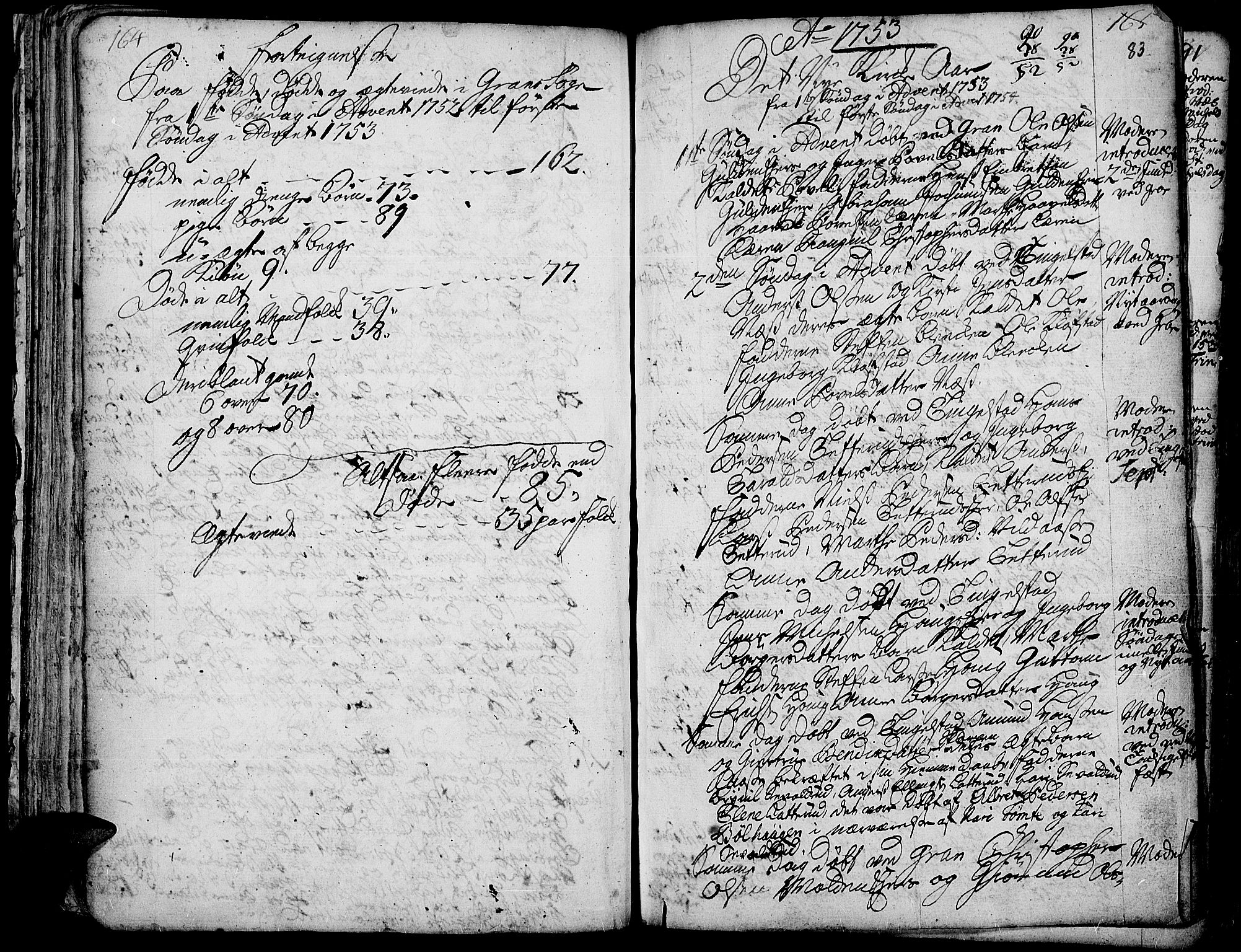 SAH, Gran prestekontor, Ministerialbok nr. 3, 1745-1758, s. 83