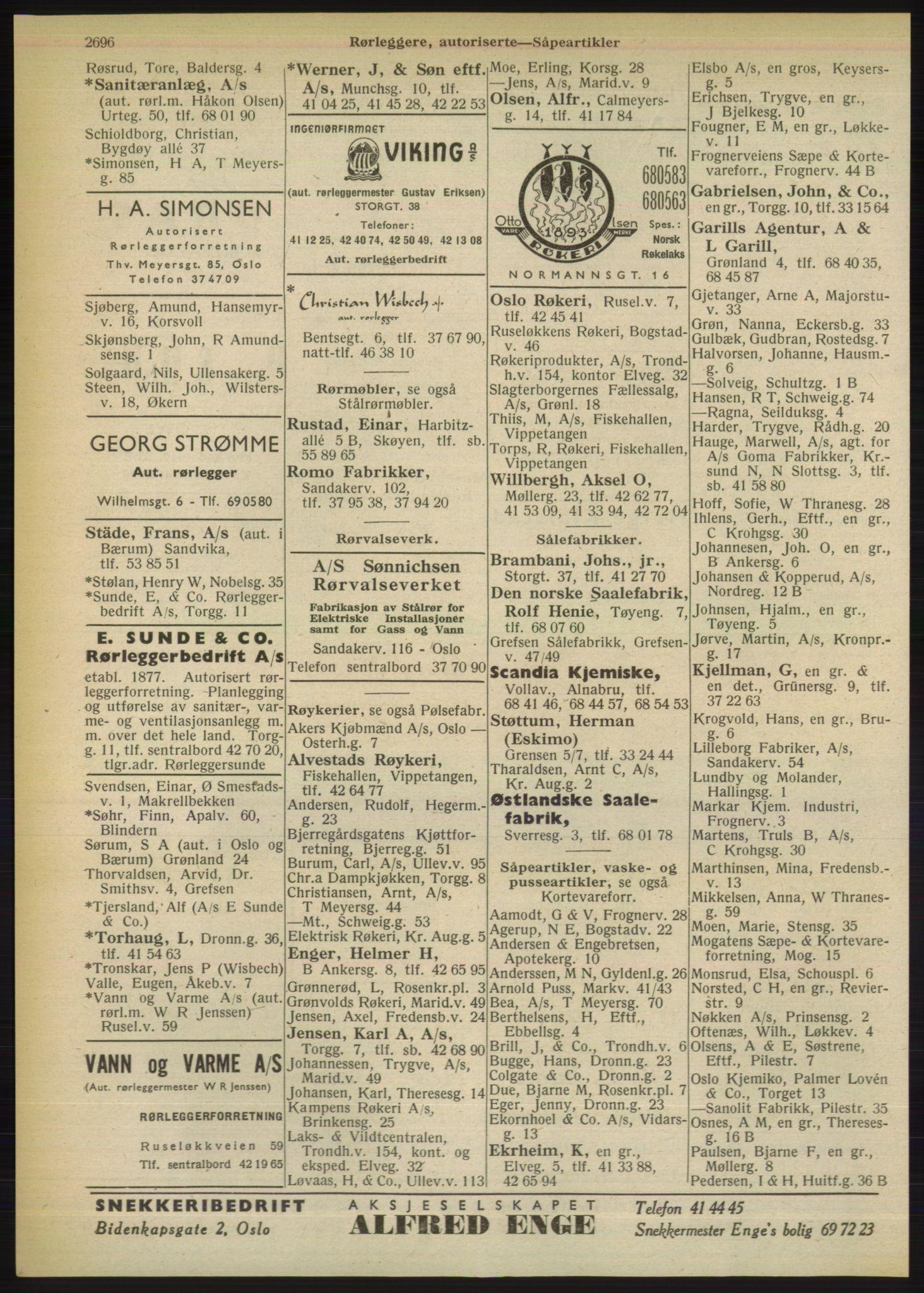 PUBL, Kristiania/Oslo adressebok, 1949, s. 2696