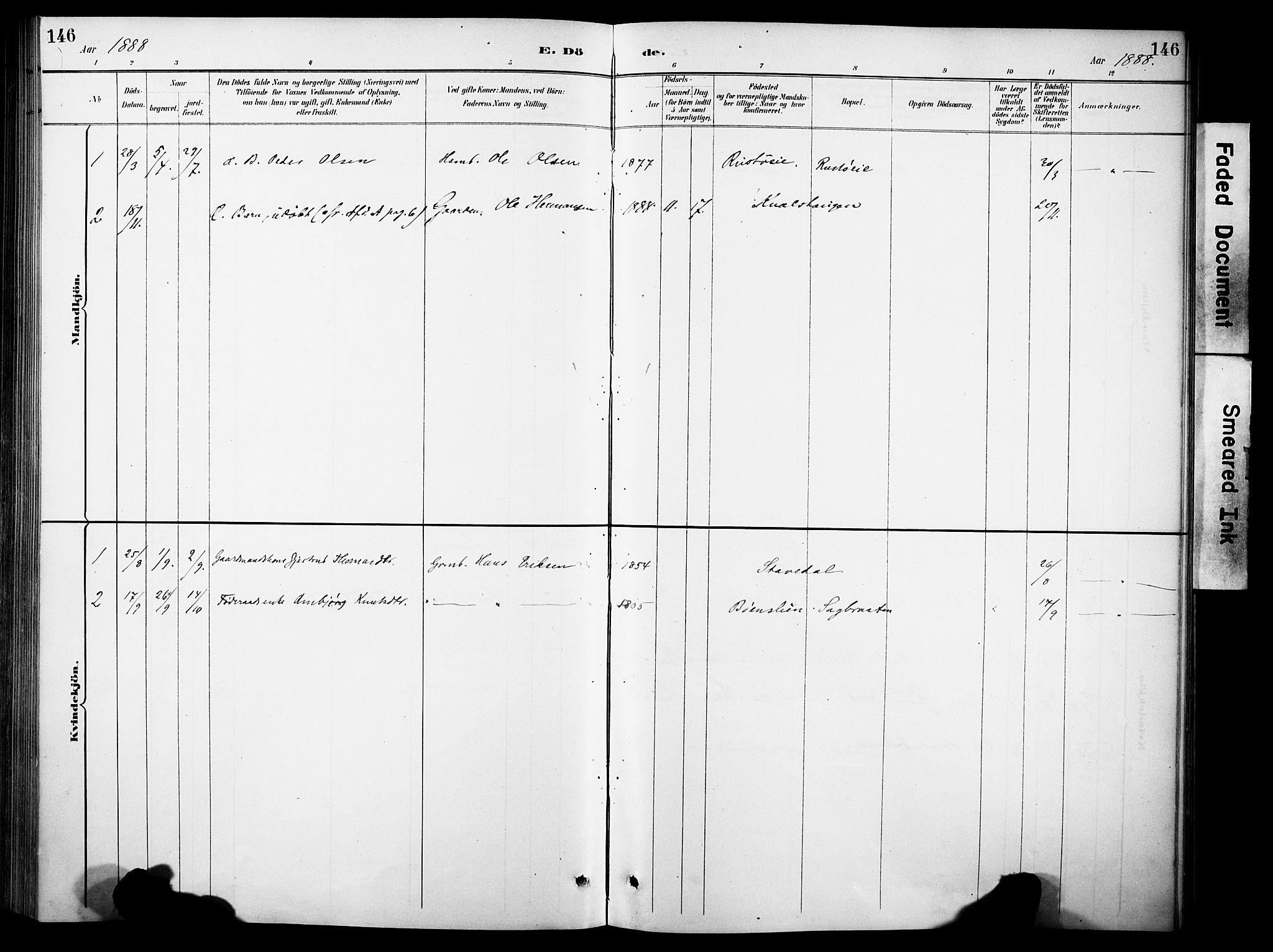 SAH, Sør-Aurdal prestekontor, Ministerialbok nr. 10, 1886-1906, s. 146