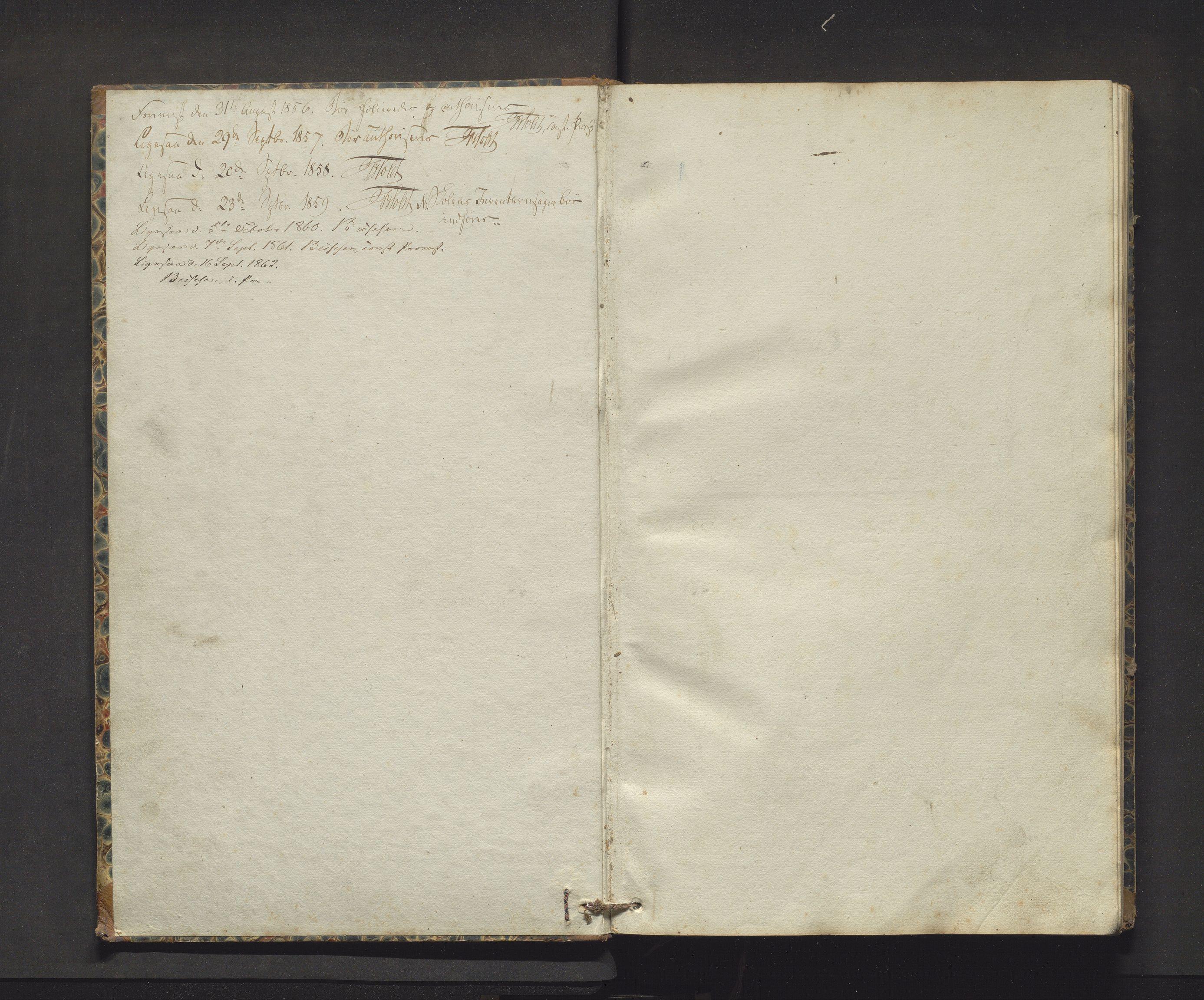 IKAH, Fjelberg kommune. Barneskulane, F/Fb/L0002: Skuleprotokoll for vestre distrikt i Eid sokn, 1855-1863