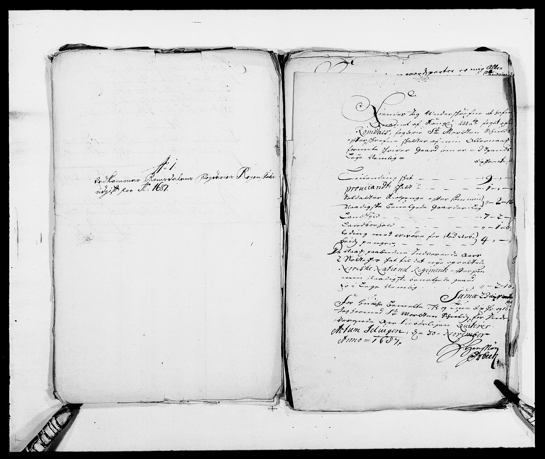 RA, Rentekammeret inntil 1814, Reviderte regnskaper, Fogderegnskap, R55/L3648: Fogderegnskap Romsdal, 1687-1689, s. 140