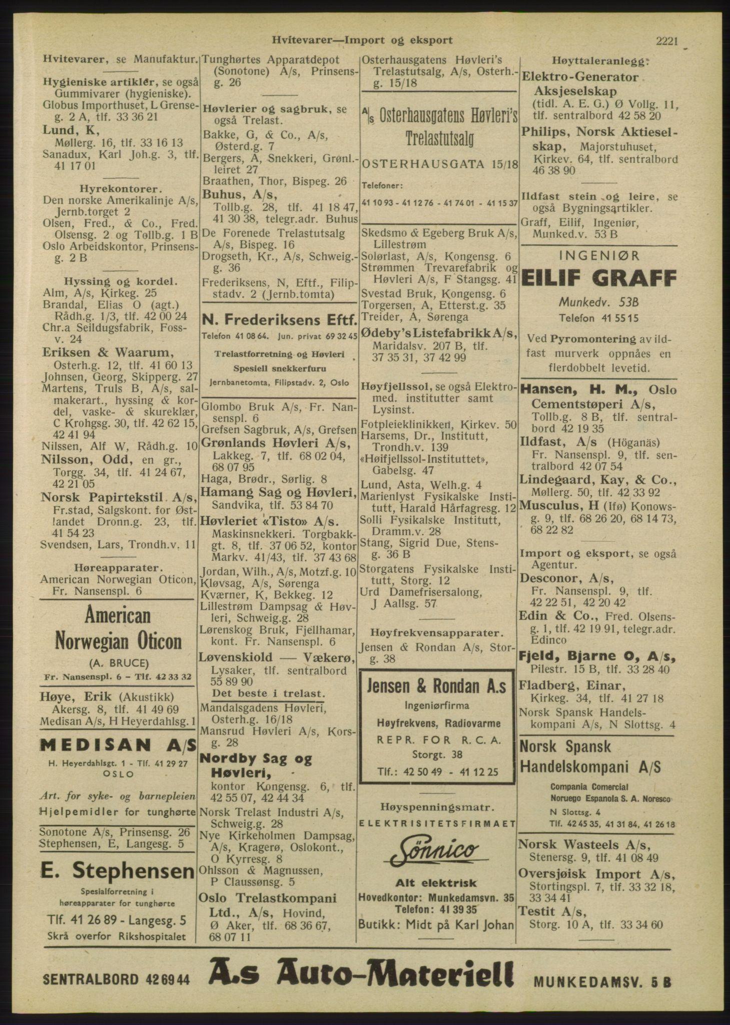 RA, Oslo adressebok (publikasjon)*, 1947, s. 2221