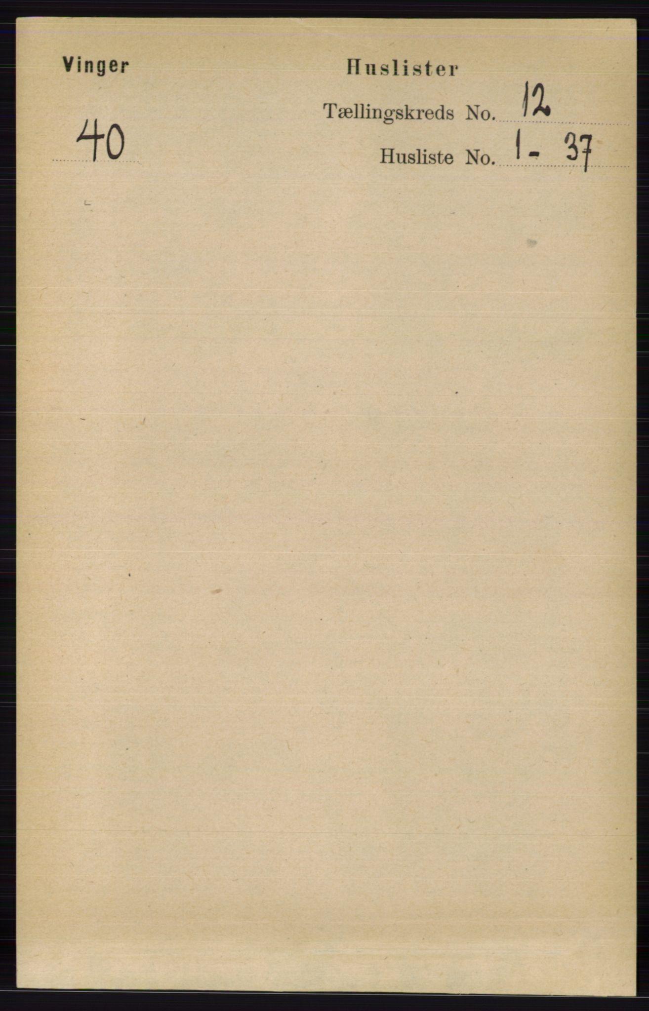 RA, Folketelling 1891 for 0421 Vinger herred, 1891, s. 5730